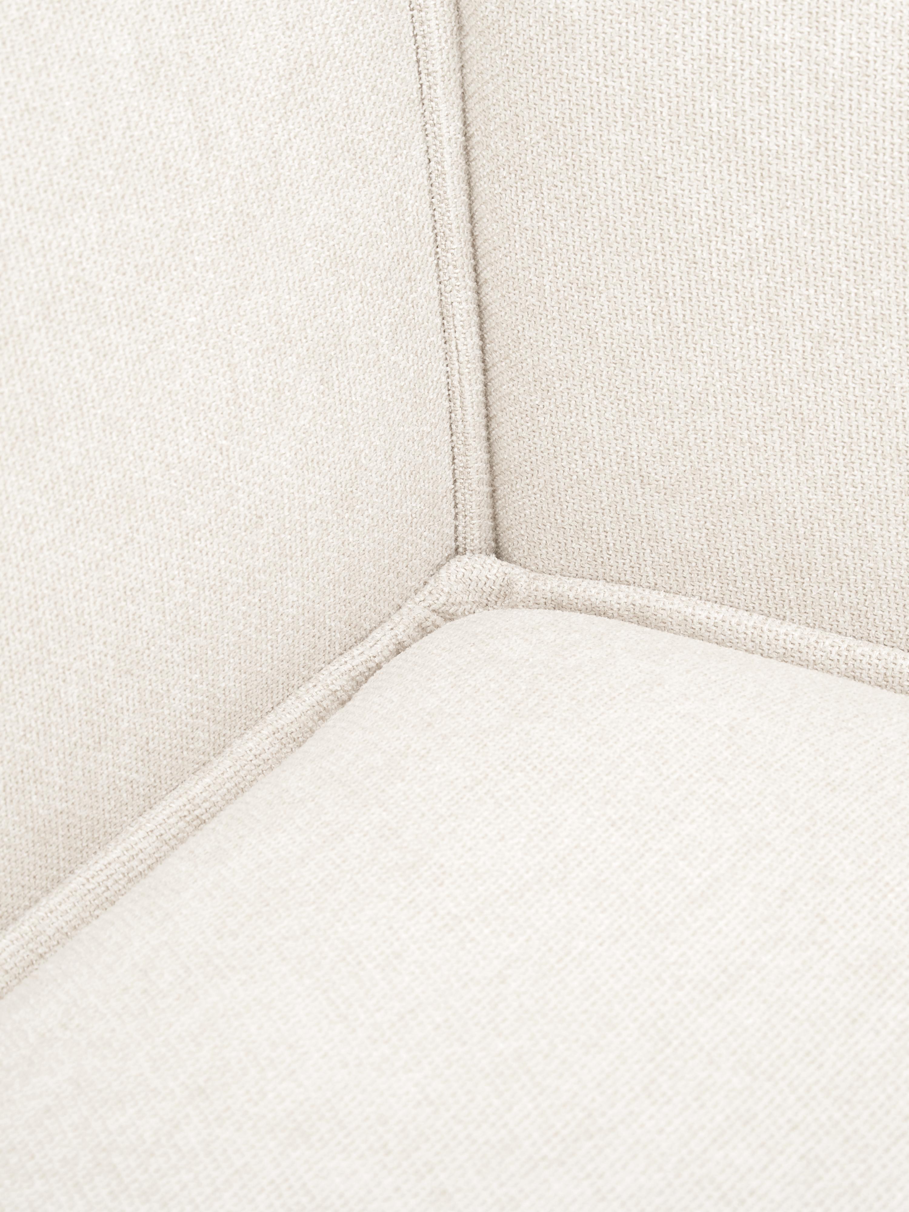 Divano componibile in tessuto beige Lennon, Rivestimento: poliestere 35.000 cicli d, Struttura: legno di pino massiccio, , Piedini: materiale sintetico, Tessuto beige, Larg. 269 x Prof. 119 cm