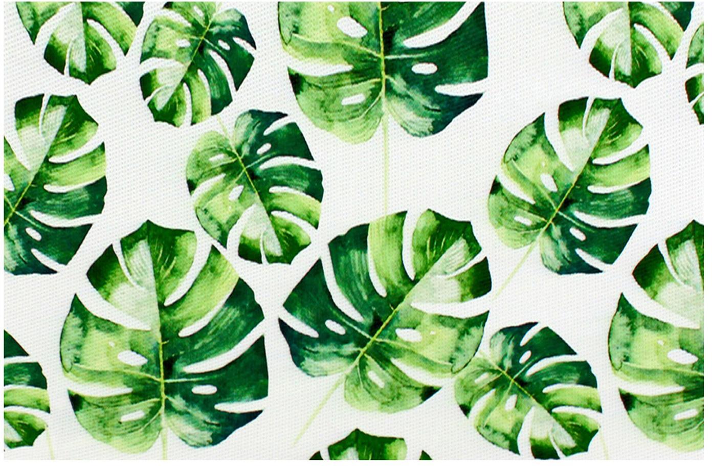 Manteles individuales Monstera, 2uds., Plástico, Verde, blanco, An 30 x L 45 cm