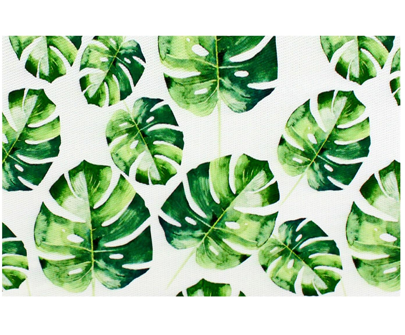 Manteles individuales Monstera, 2 uds., Plástico, Verde, blanco, An 30 x L 45 cm