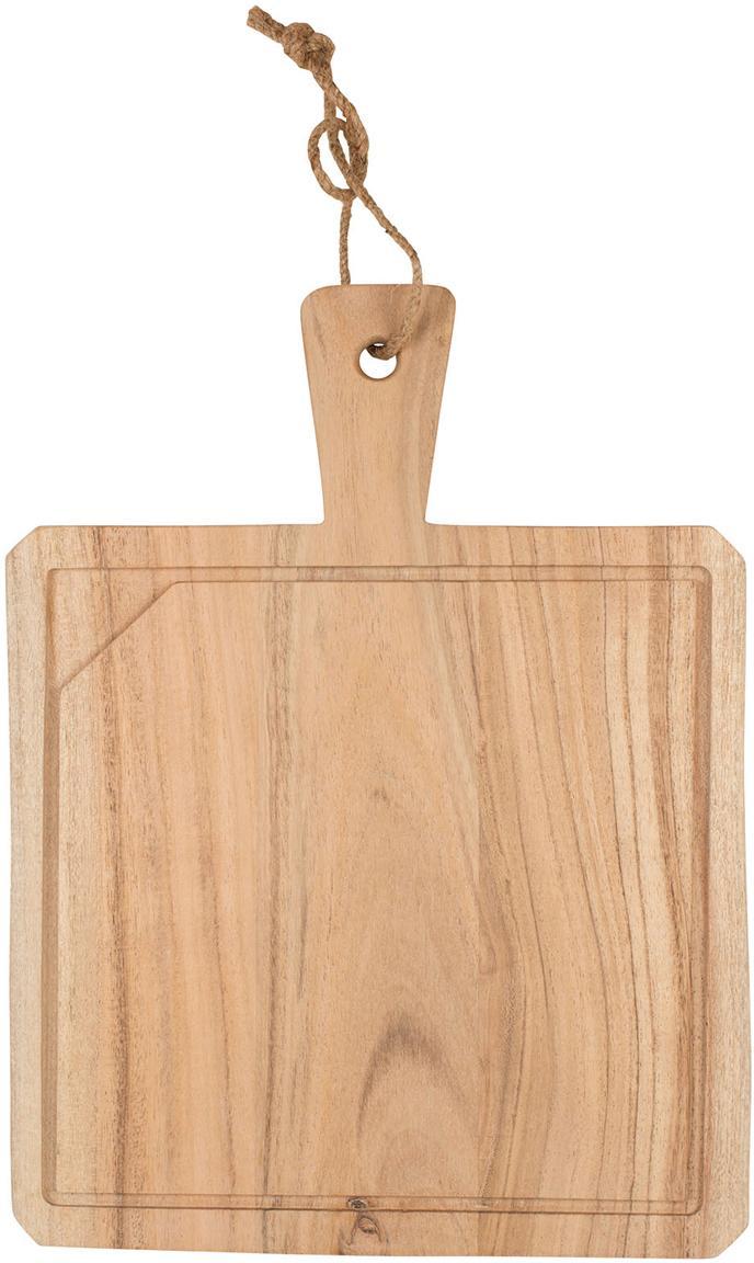 Tabla de cortar de madera de acacia Albert, Madera de acacia, Madera de acacia, An 40 x F 30 cm