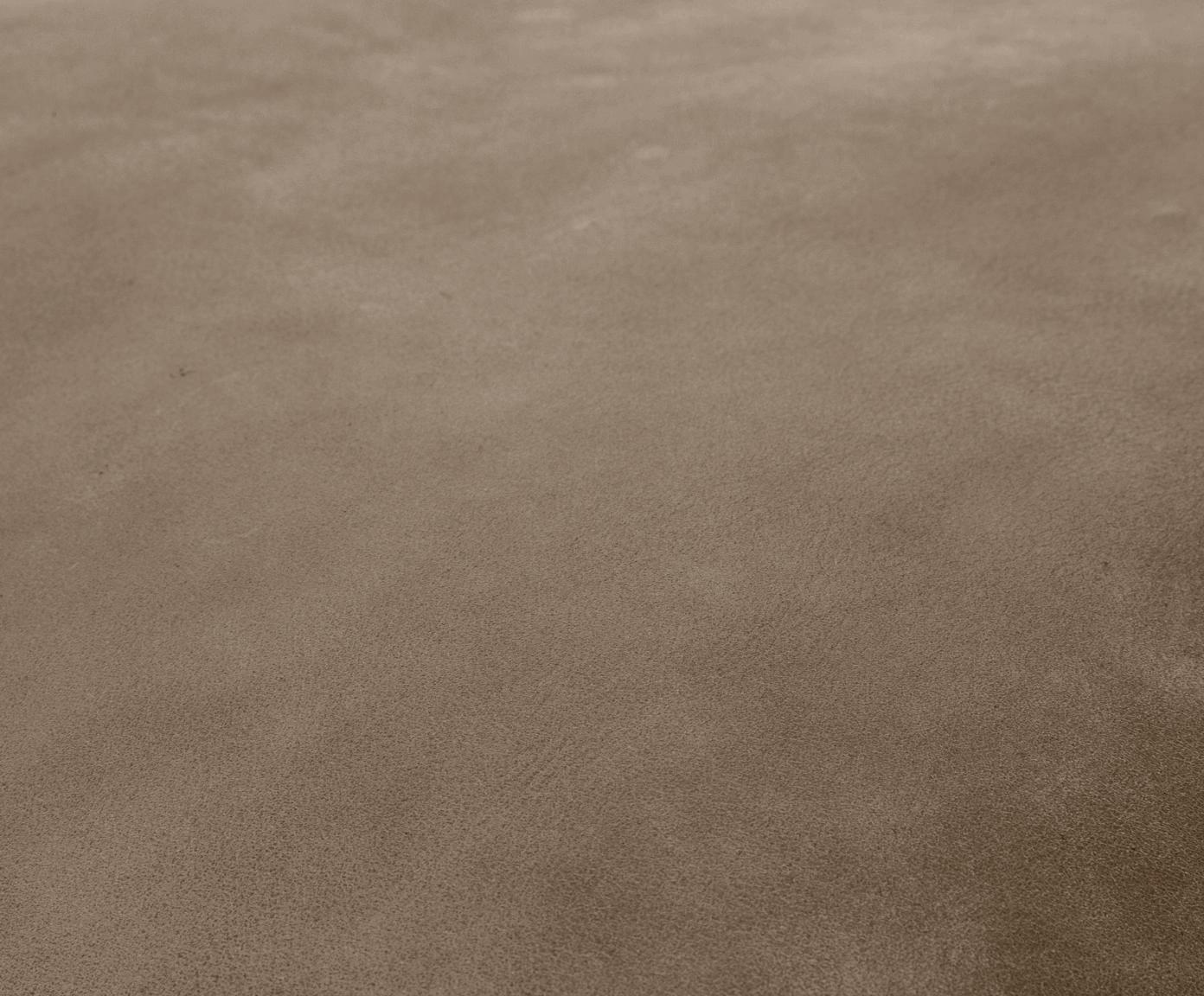 Lederpouf Porthos, Bezug: 100% Anilinleder, Braun, 80 x 33 cm