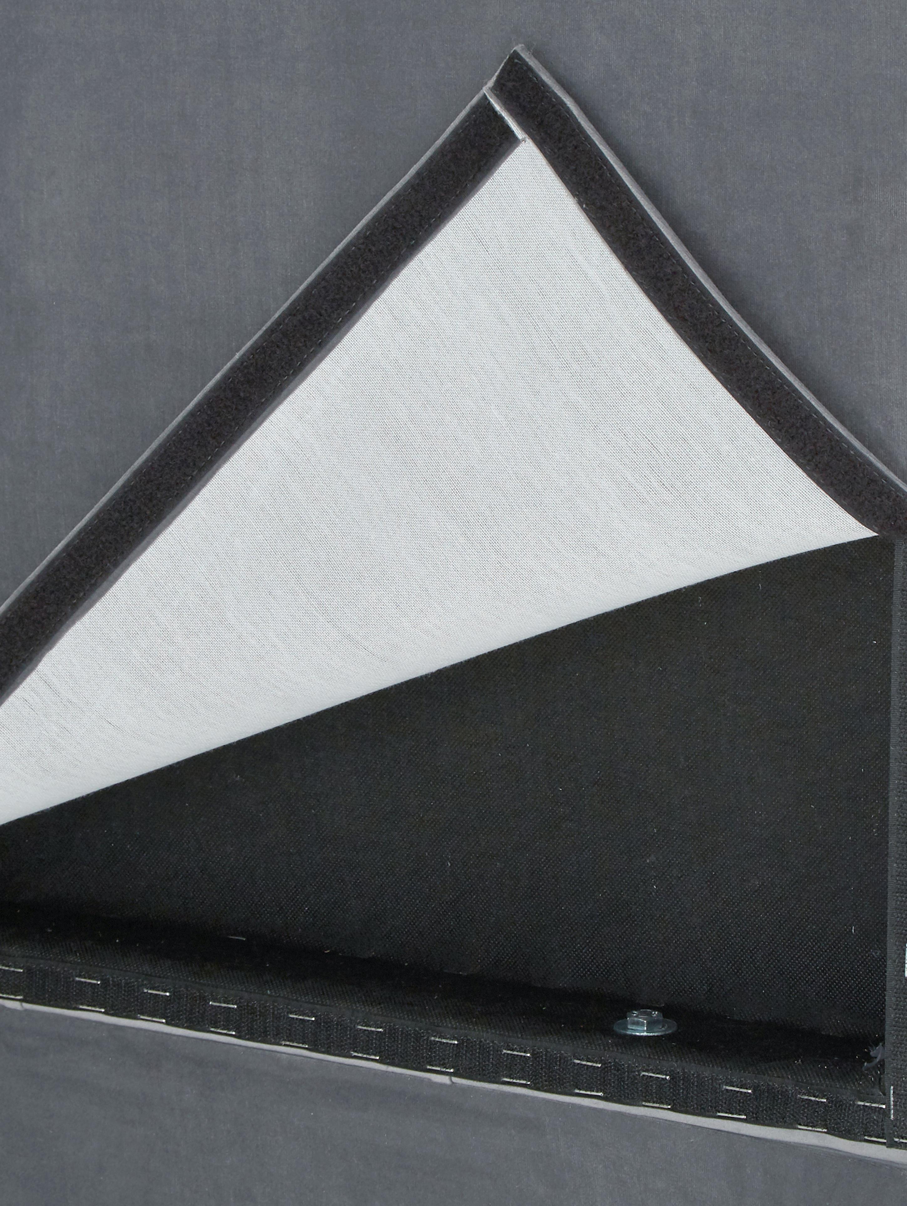 Premium Samt-Boxspringbett Phoebe, Matratze: 7-Zonen-Taschenfederkern , Füße: Massives Buchenholz, lack, Dunkelgrau, 200 x 200 cm