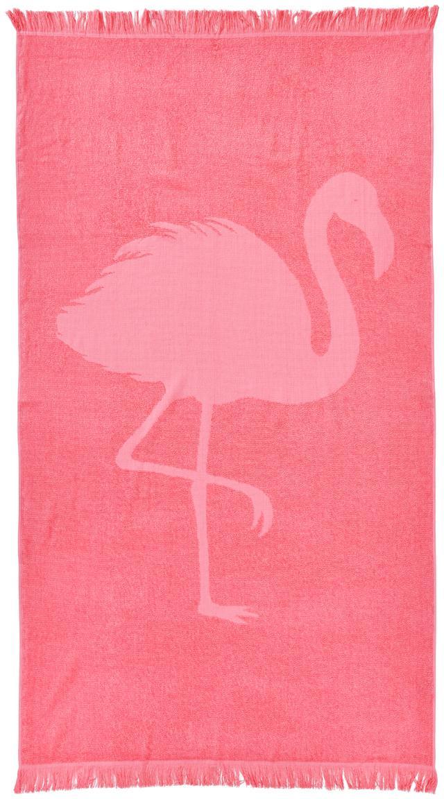 Toalla de playa Capri Flamingo, Rosa, An 90 x L 160 cm