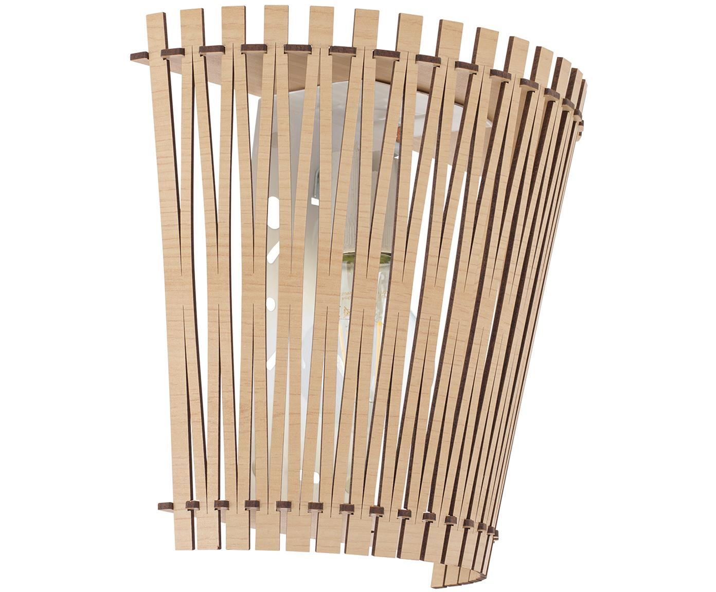 Aplique Karma, Pantalla: tablero de fibra de densi, Arce, An 24 x Al 22 cm
