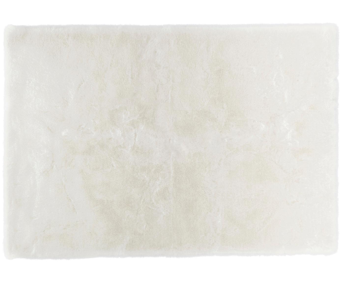 Flauschiger Hochflor-Teppich Superior aus Kunstfell, Flor: 95% Acryl, 5% Polyester, Weiss, B 160 x L 230 cm (Grösse M)
