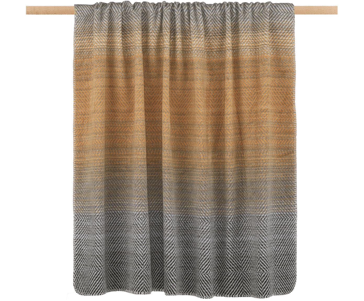 Plaid in pile Savona Pattern, Tessuto: Jacquard, Toni grigi, P 150 x L 200 cm