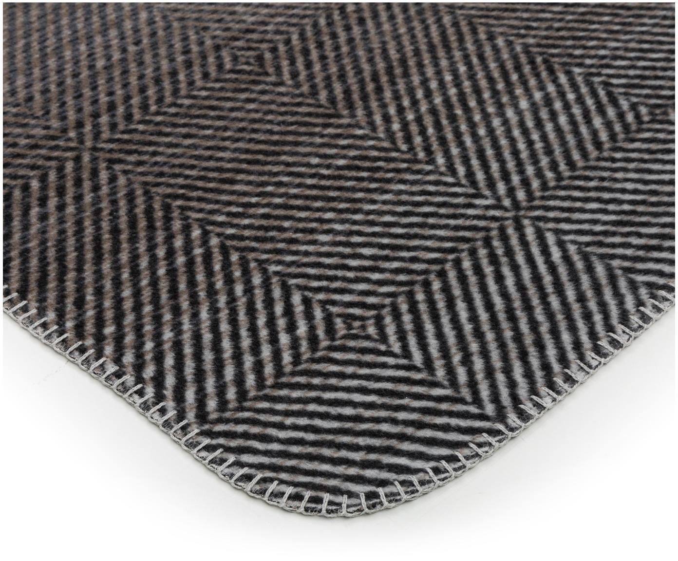 Pled z polaru Savona Pattern, Odcienie szarego, S 150 x D 200 cm