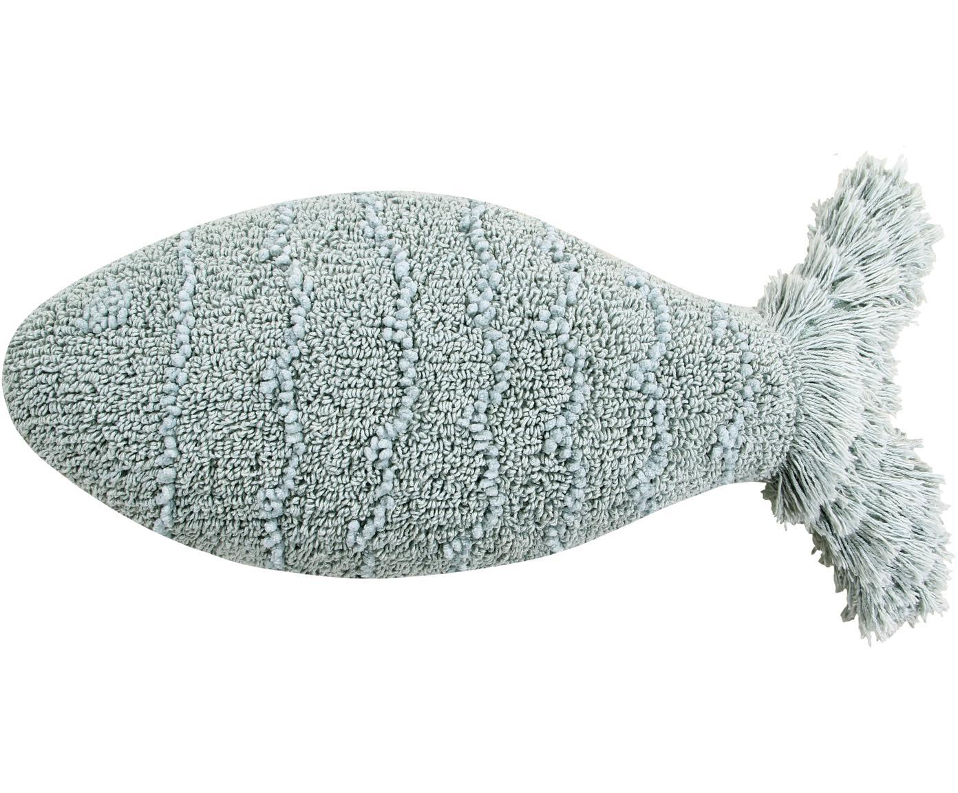 Kissen Baby Fish, mit Inlett, Bezug: 97% Baumwolle, 3% recycel, Blau, 30 x 60 cm