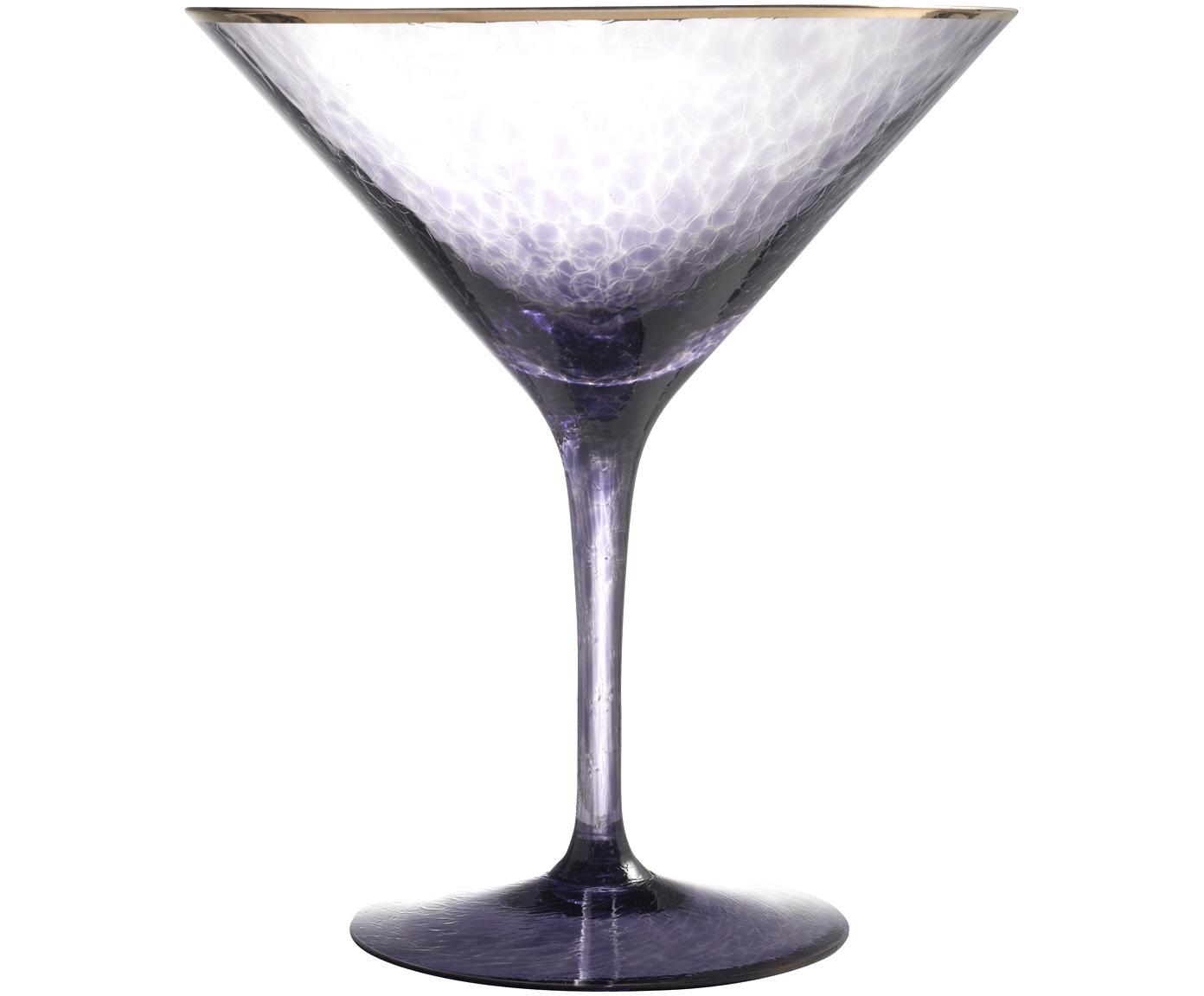 Martiniglas Rebel, Kristallglas, Lila, Ø 12 x H 14 cm