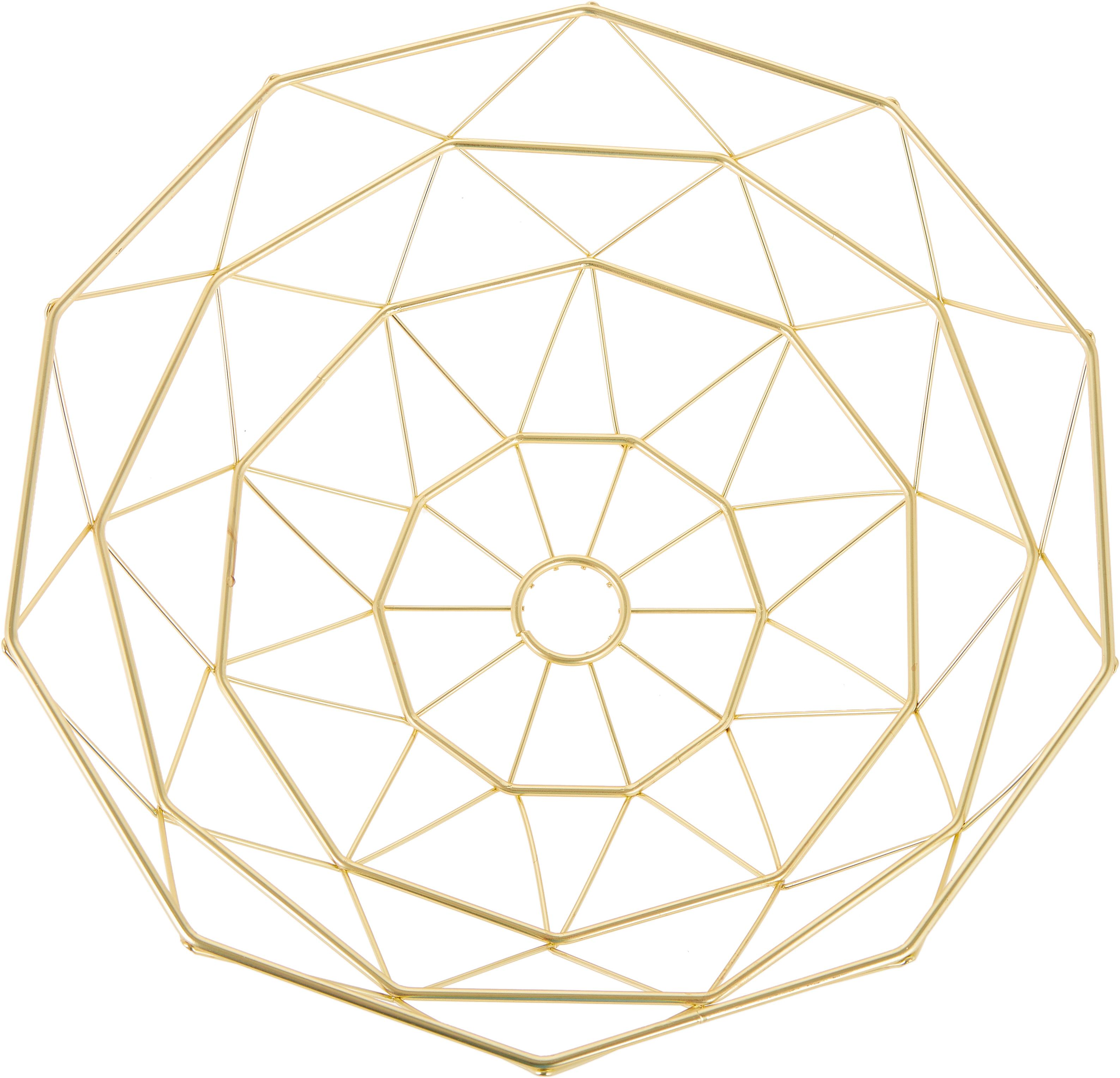 Kosz do przechowywania Diamond Cut, Metal, Odcienie złotego, matowy, Ø 35 x W 13 cm