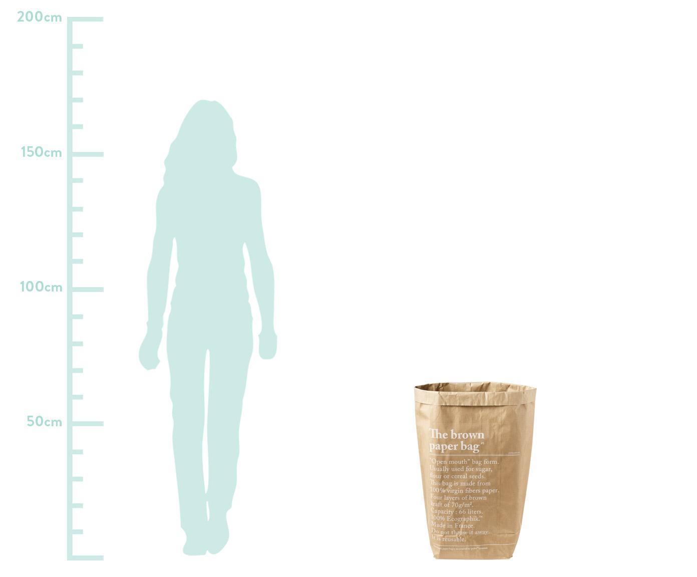 Aufbewahrungstüte Le sac en kraft brun, Frischfaserpapier, Braun, 50 x 69 cm