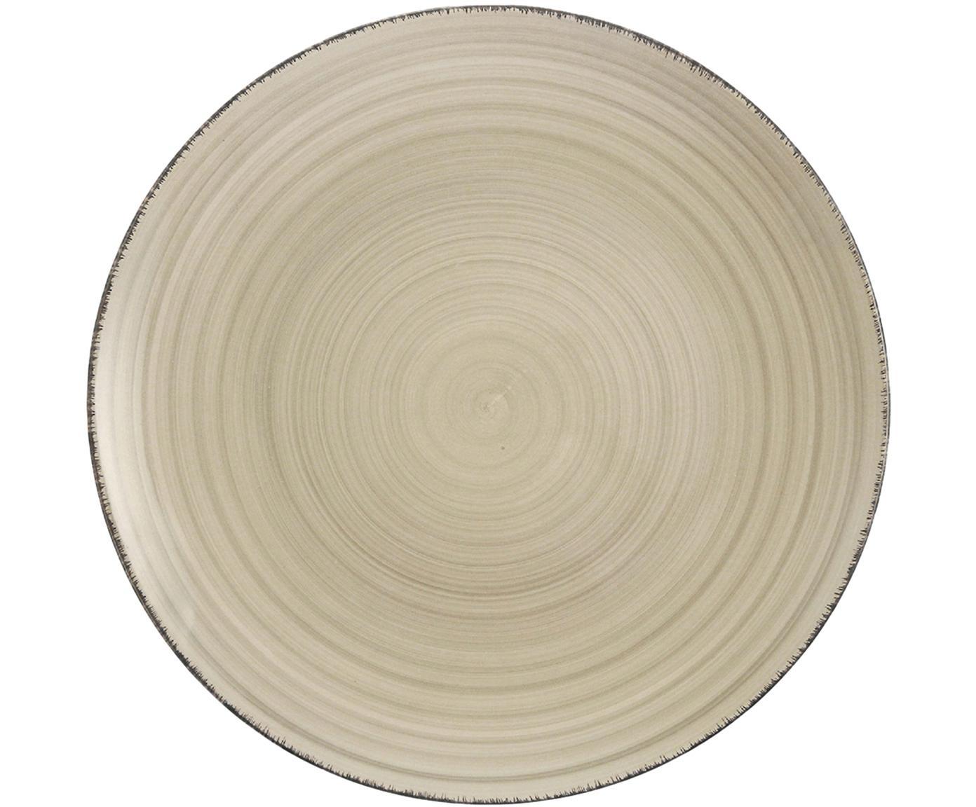 Piatto da colazione Baita 6 pz, Terracotta (Hard Dolomite), dipinto a mano, Grigio, Ø 20 cm
