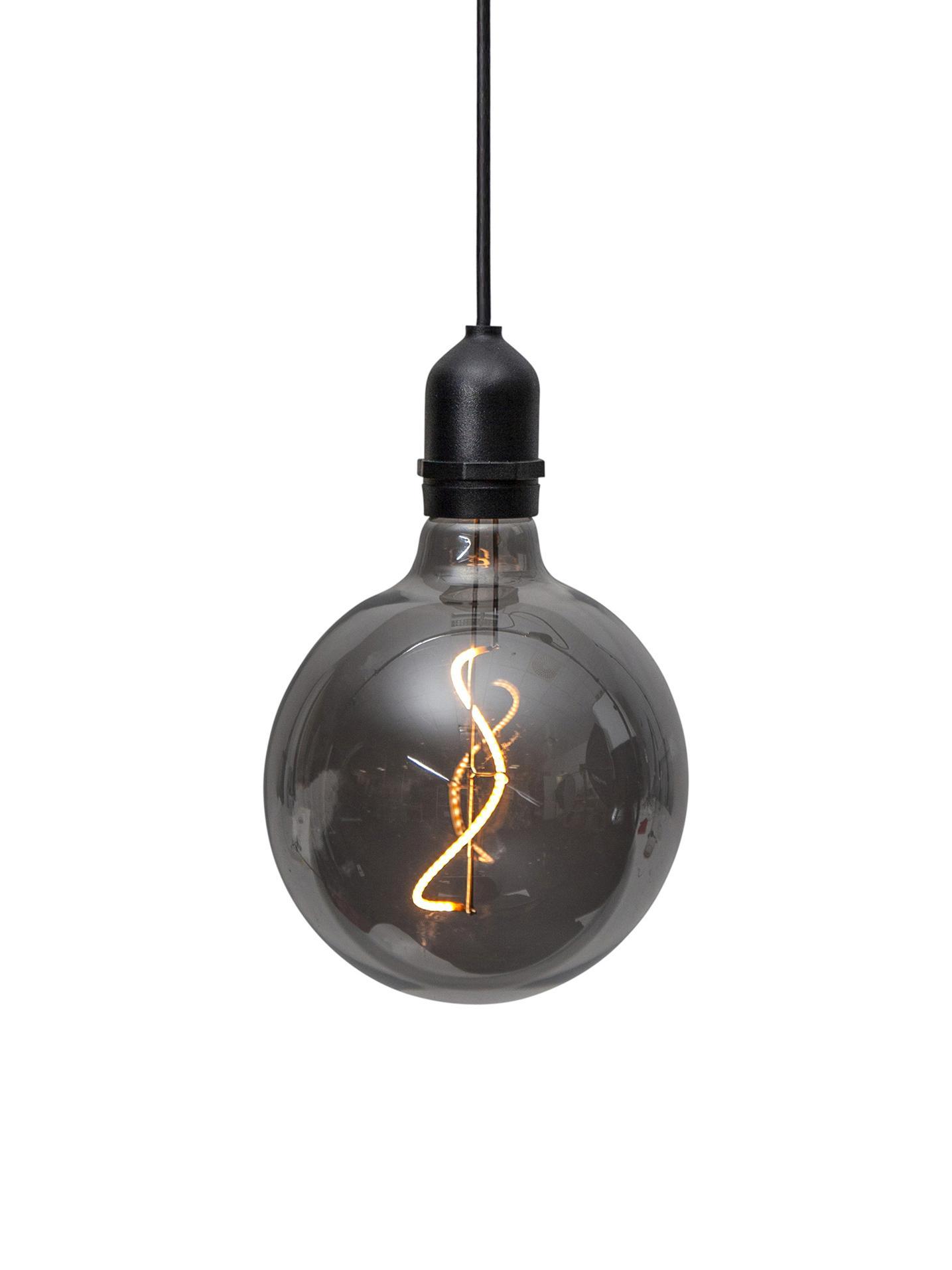 LED Außenleuchte Bowl, Lampenschirm: Glas, Dunkelgrau, transparent, Schwarz, Ø 13 x H 18 cm