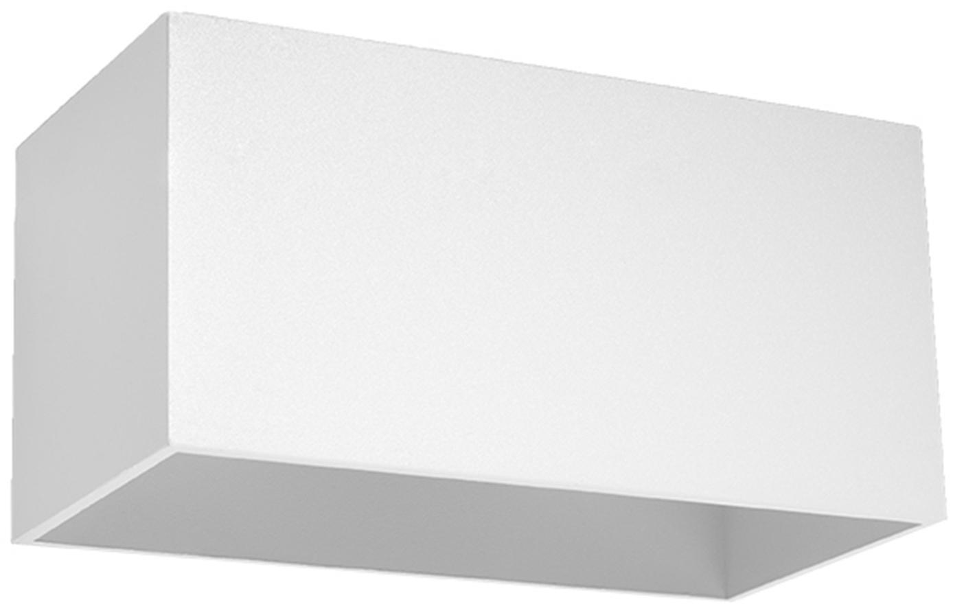 Wandleuchte Geo Maxi, Aluminium, Weiß, 20 x 10 cm