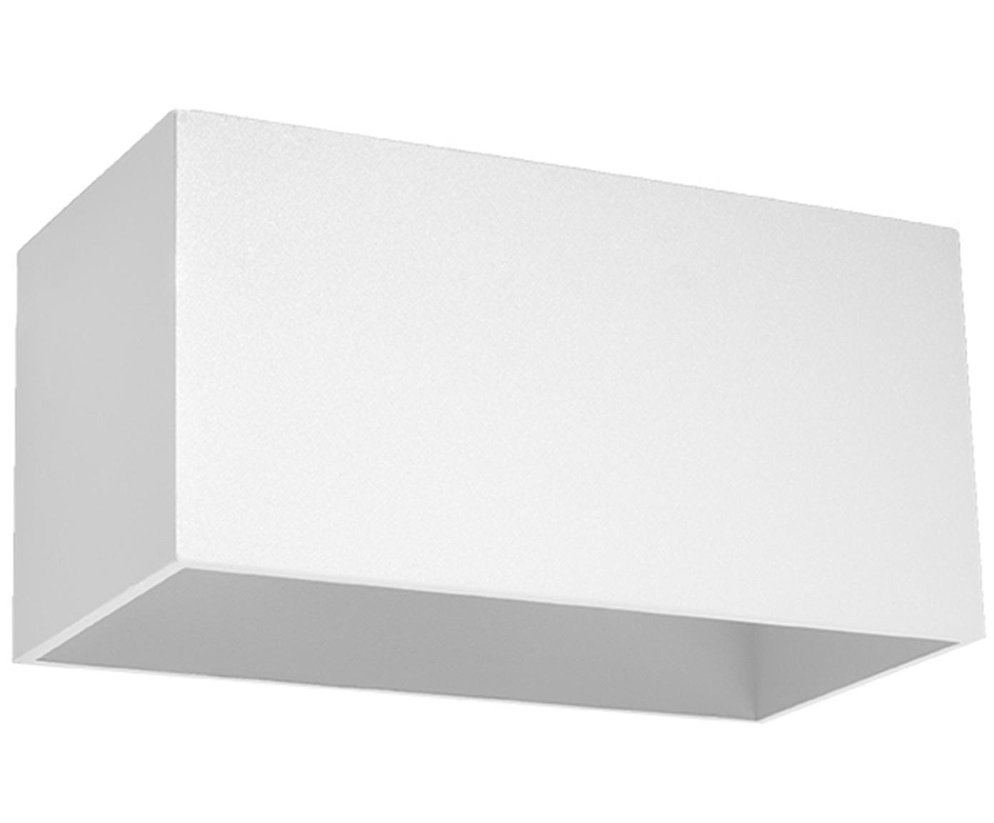Wandleuchte Geo Maxi, Aluminium, Weiss, 20 x 10 cm