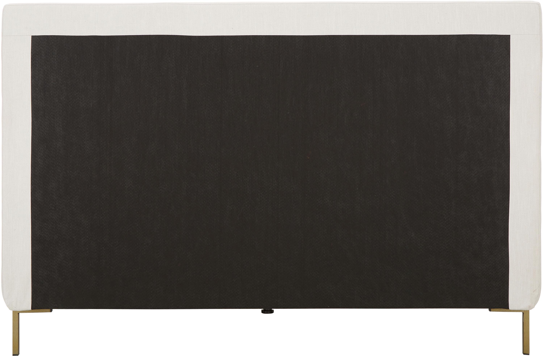 Polsterbett Peace, Korpus: Massives Kiefernholz, Bezug: Polyester (Strukturstoff), Webstoff Beige, 200 x 200 cm