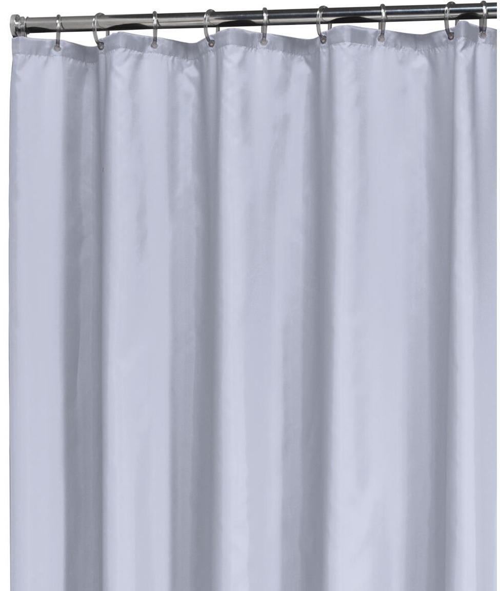 Eenkleurig douchegordijn Granada in lichtblauw, Oogjes: metaal, Pastelblauw, 180 x 200 cm