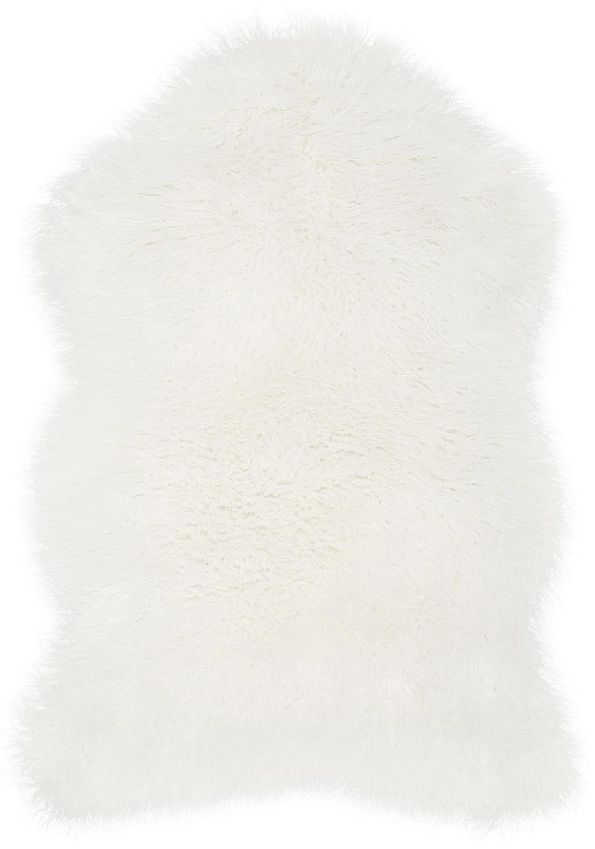 Ecopelliccia riccia Morten, Crema, Larg. 60 x Lung. 90 cm