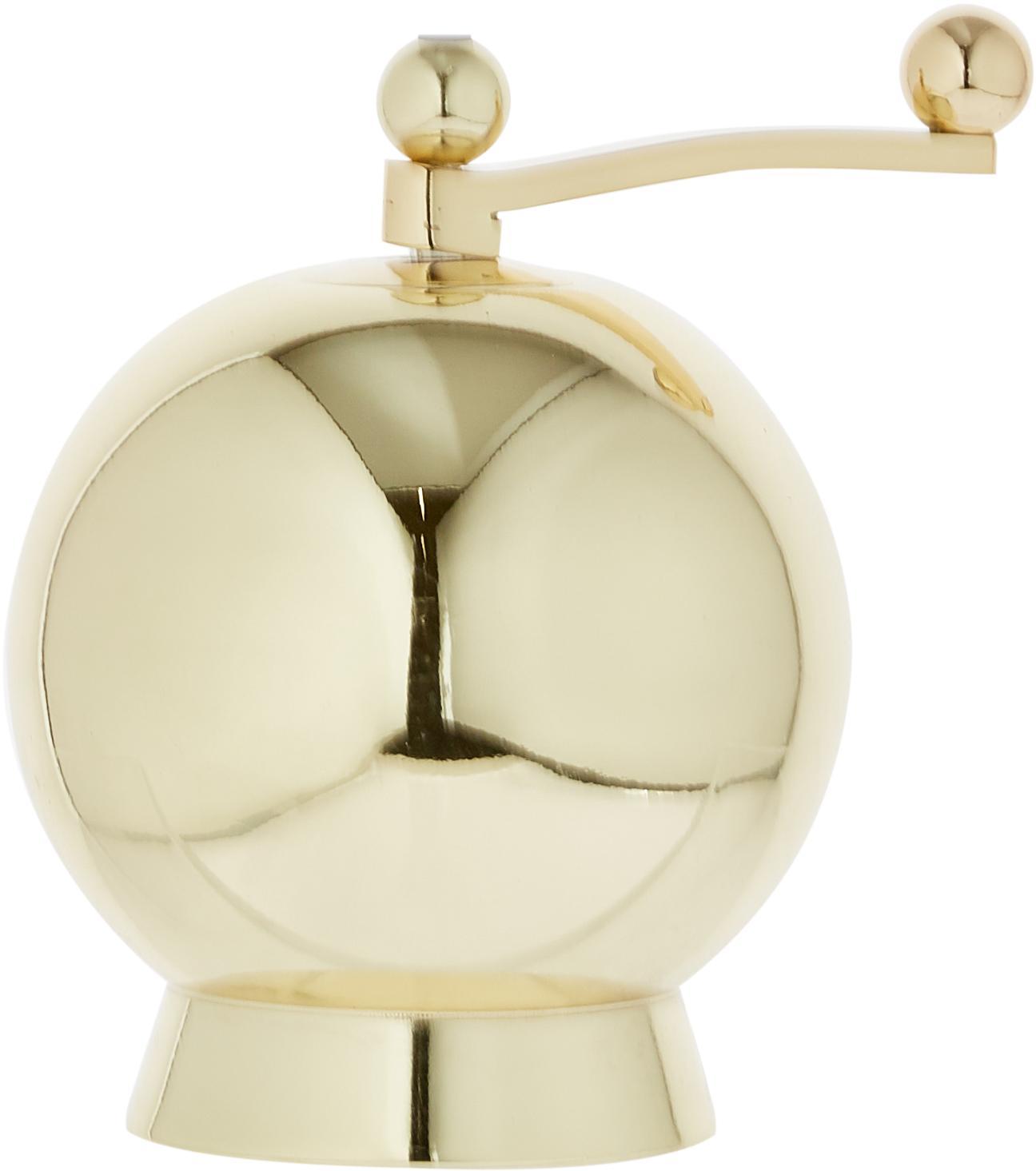Zout- en pepermolenset Quijote, 2-delig, Grinder: , Zoutmolen: kunststof, Pepermolen: metaal, Goudkleurig, Ø 8 x H 12 cm