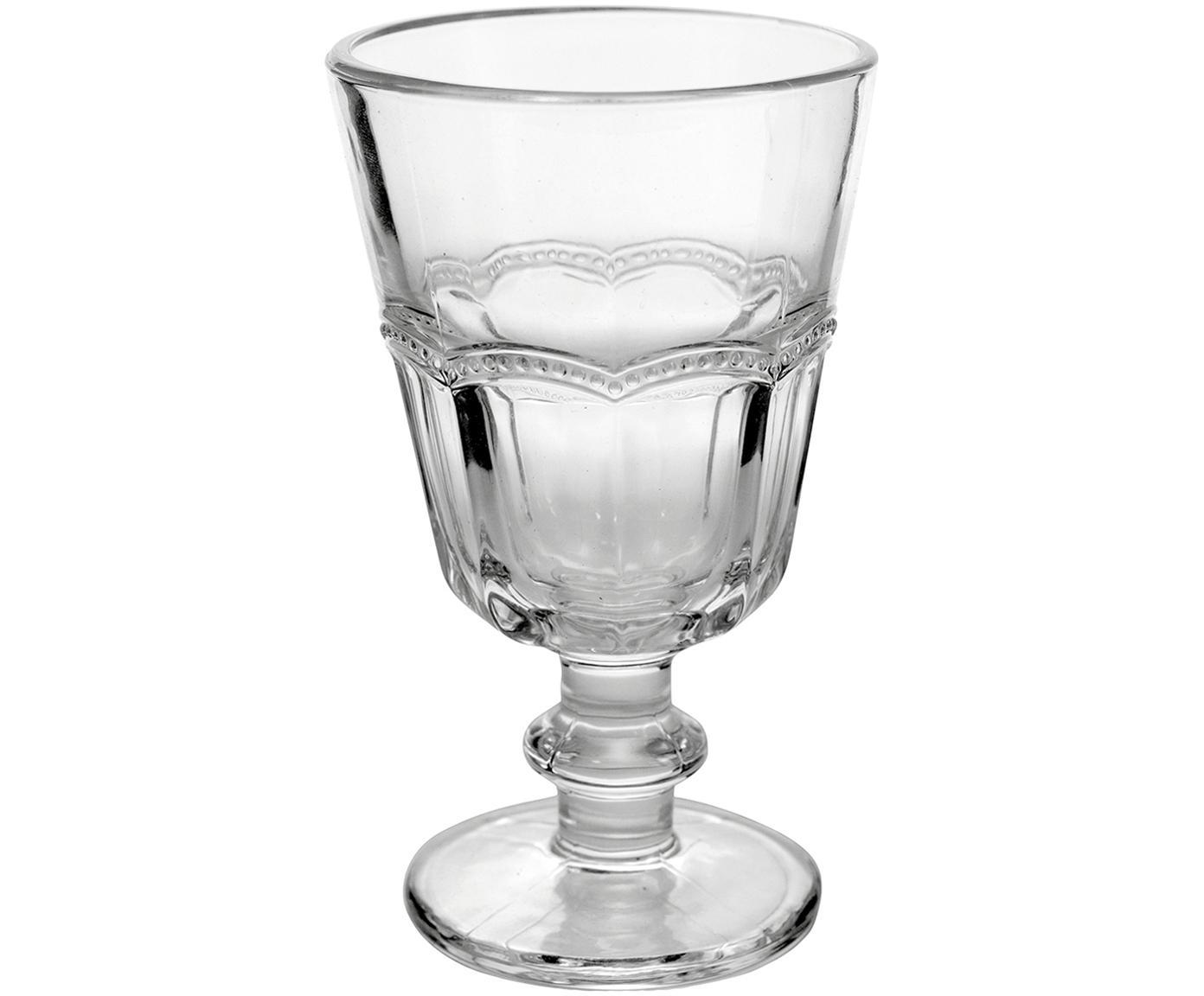 Wijnglazen Floyd met gespiegeld reliëf, 6-delig, Glas, Transparant, Ø 9 x H 14 cm