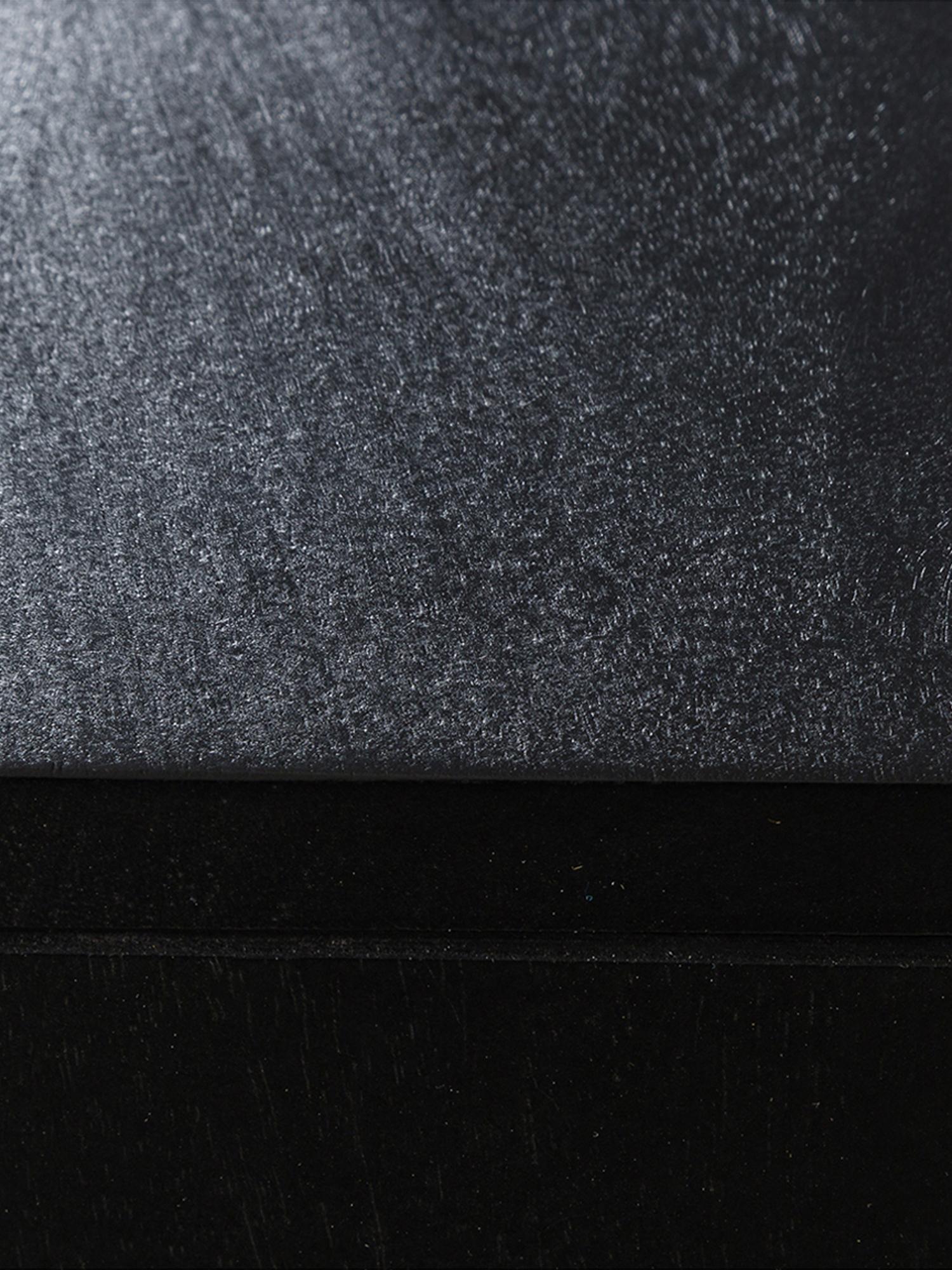 Comodino con cassetto Vienna, Piedini: metallo verniciato a polv, Nero, beige, dorato, Larg. 45 x Alt. 55 cm