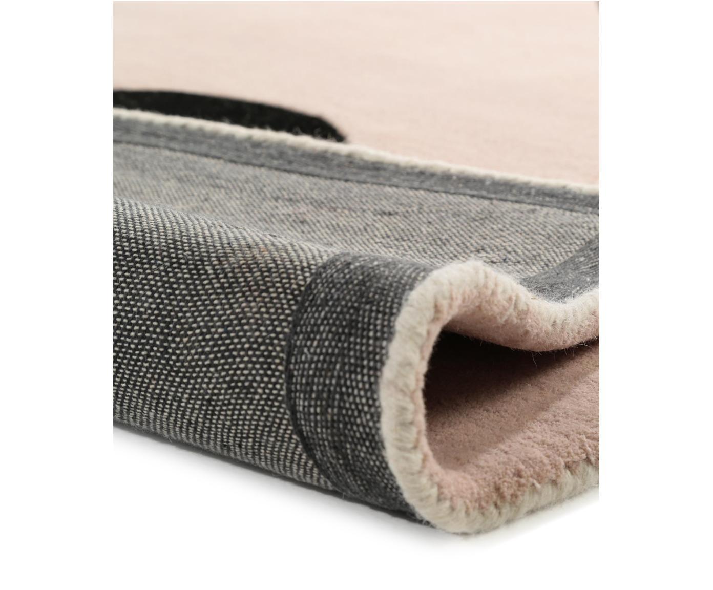 Ręcznie tuftowany dywan z wełny Matrix Arc, Odcienie beżowego, blady różowy, jasny szary, czarny, S 200 x D 300 cm (rozmiar: L)