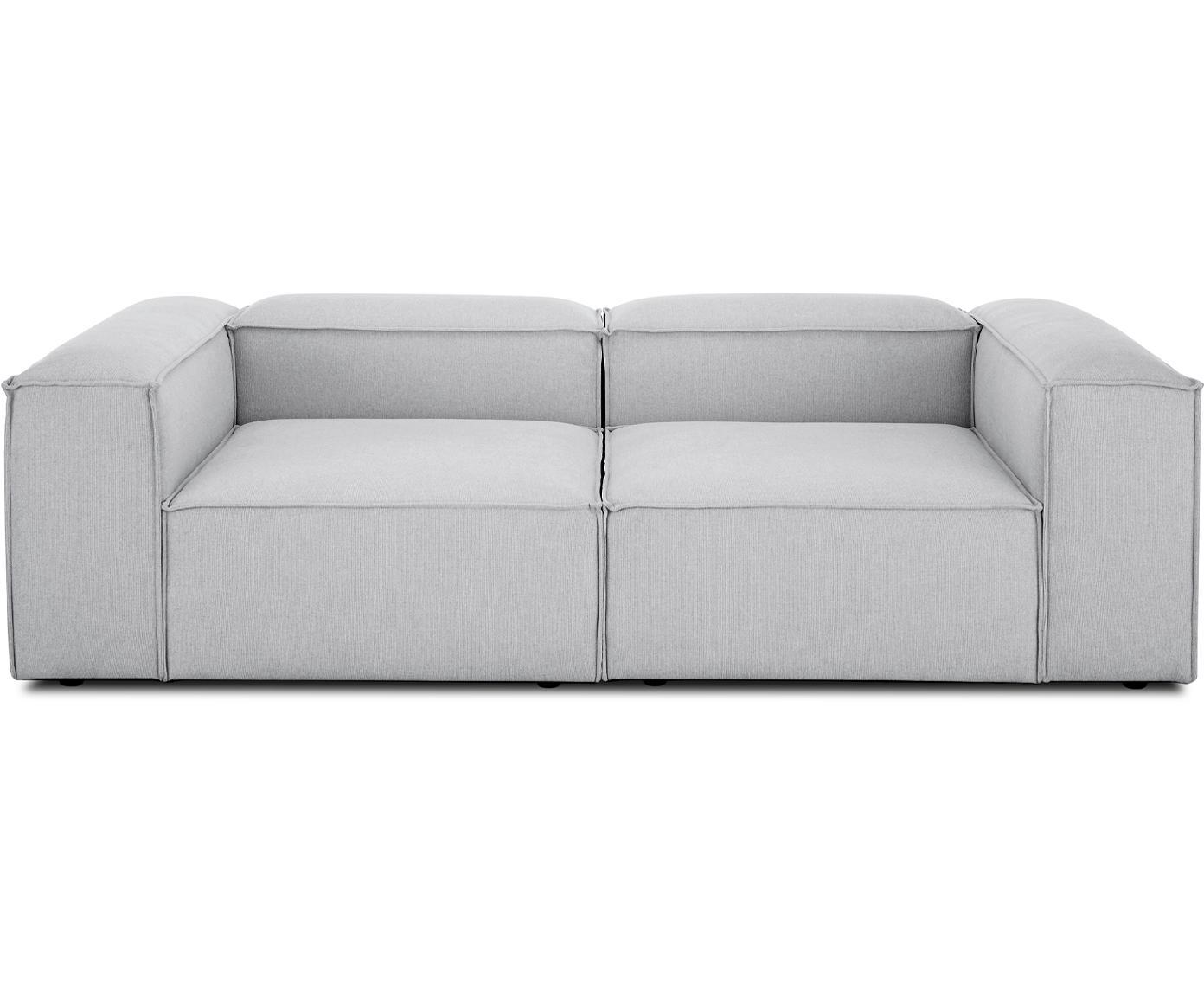 Sofa modułowa Lennon (3-osobowa), Tapicerka: poliester 35 000 cykli w , Stelaż: lite drewno sosnowe, skle, Nogi: tworzywo sztuczne, Jasny szary, S 238 x G 119 cm