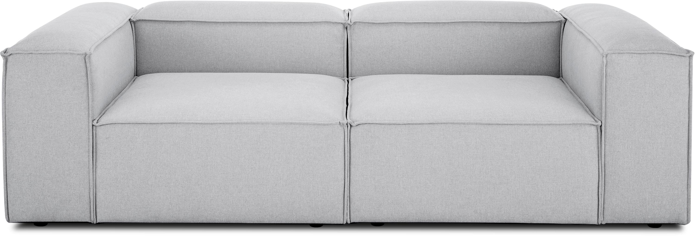 Modulares Sofa Lennon (3-Sitzer), Bezug: Polyester Der hochwertige, Gestell: Massives Kiefernholz, Spe, Füße: Kunststoff, Webstoff Hellgrau, B 238 x T 119 cm
