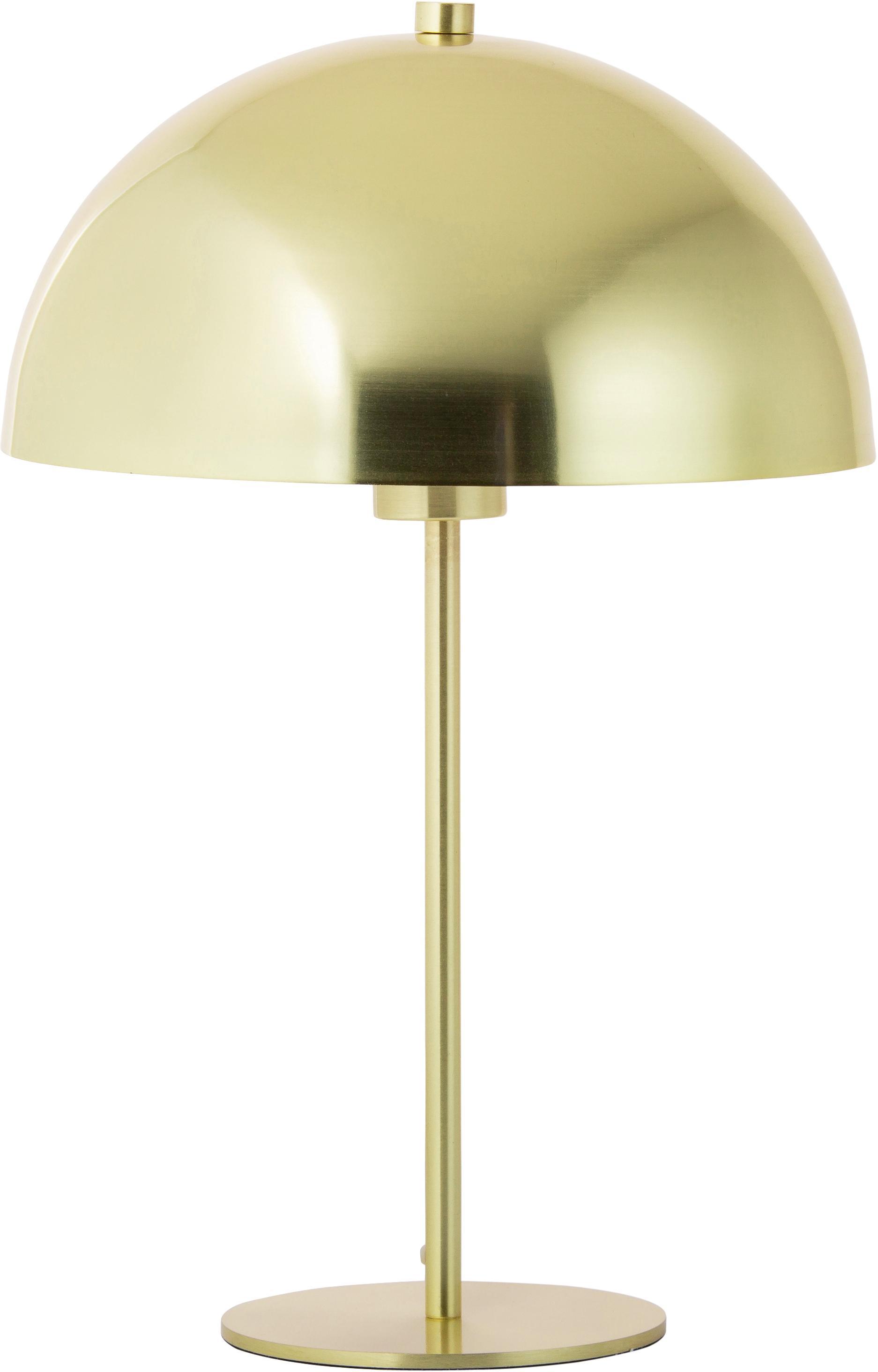 Tischlampe Matilda aus Metall, Lampenschirm: Metall, vermessingt, Messing, Ø 29 x H 45 cm
