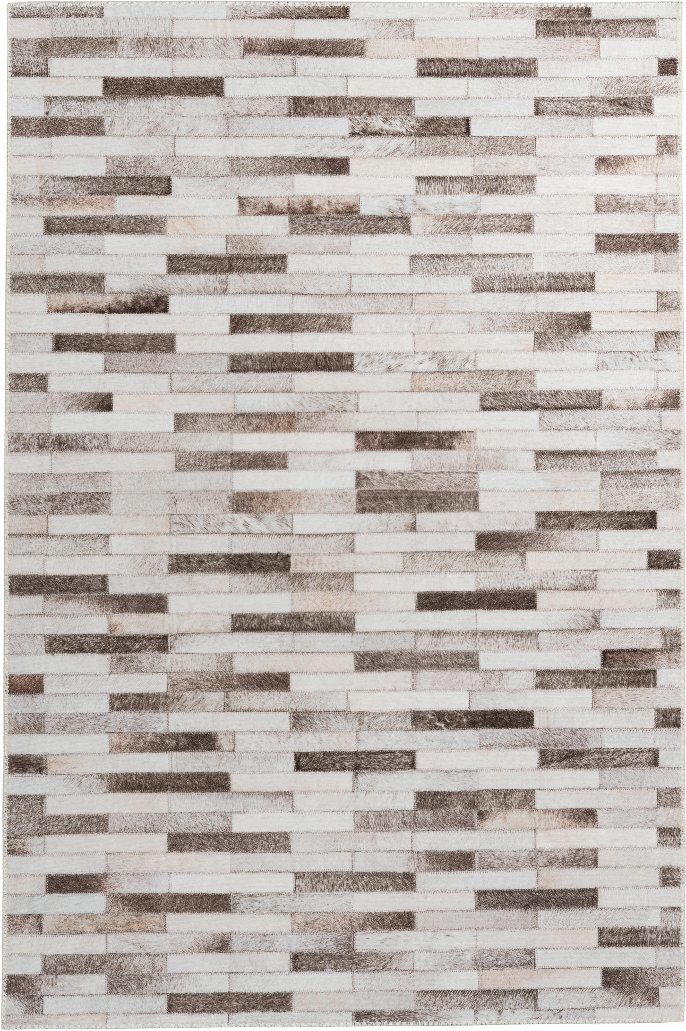 Vloerkleed My Bonanza, Bovenzijde: 100% polyester, Onderzijde: katoen, Beige- en bruintinten, B 80 x L 150 cm (maat XS)