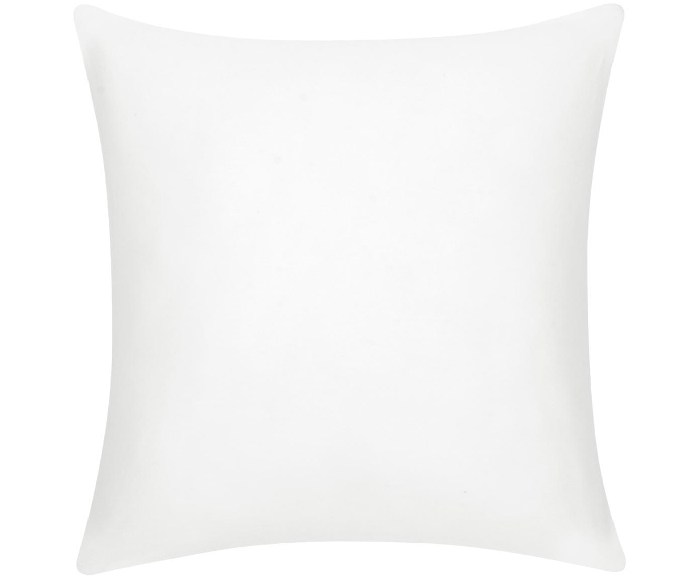 Baumwoll-Kissenhülle Mads in Weiß, 100% Baumwolle, Cremeweiß, 50 x 50 cm