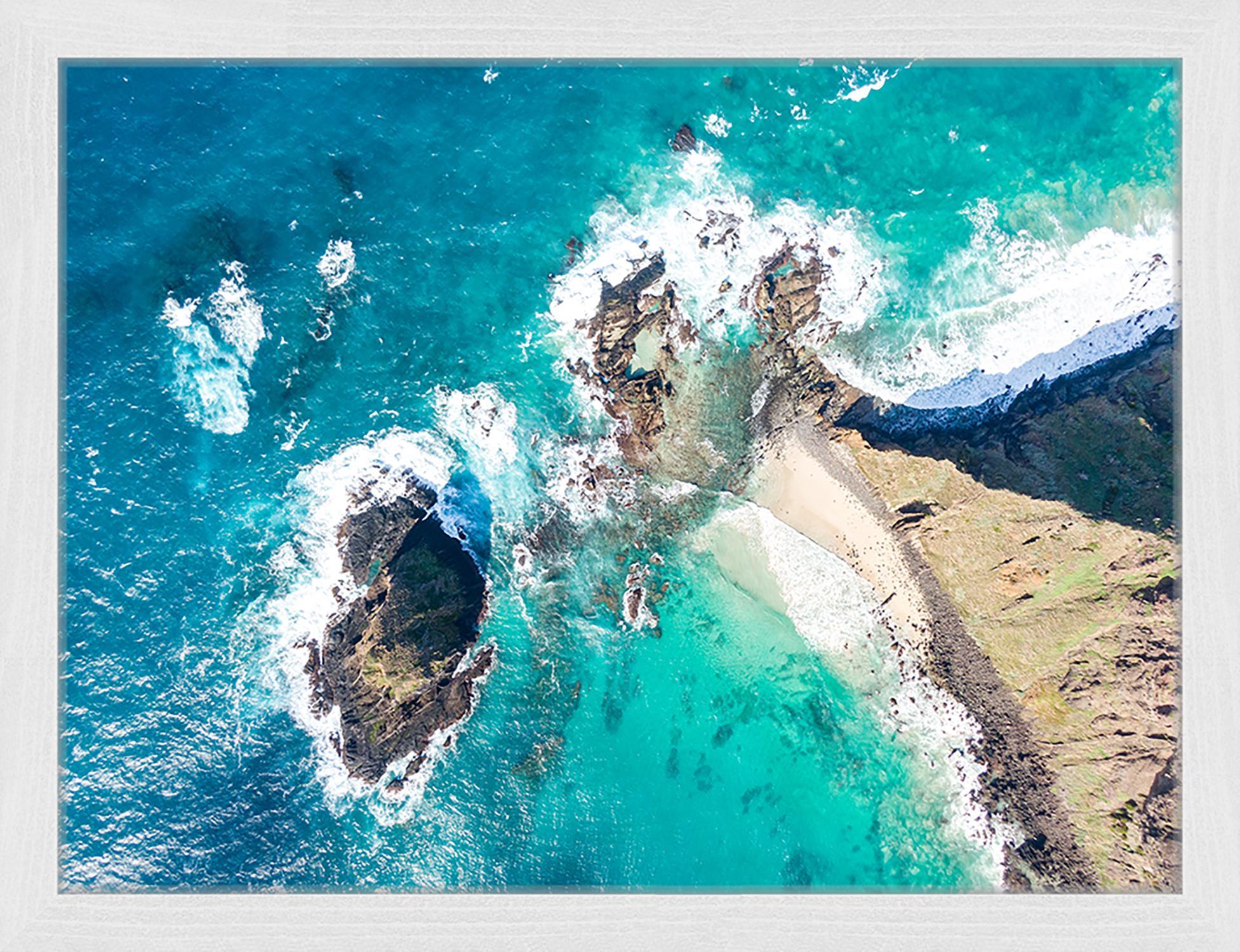 Stampa digitale incorniciata Malabar Hil, Immagine: stampa digitale su carta,, Cornice: legno verniciato, Multicolore, Larg. 43 x Alt. 33 cm