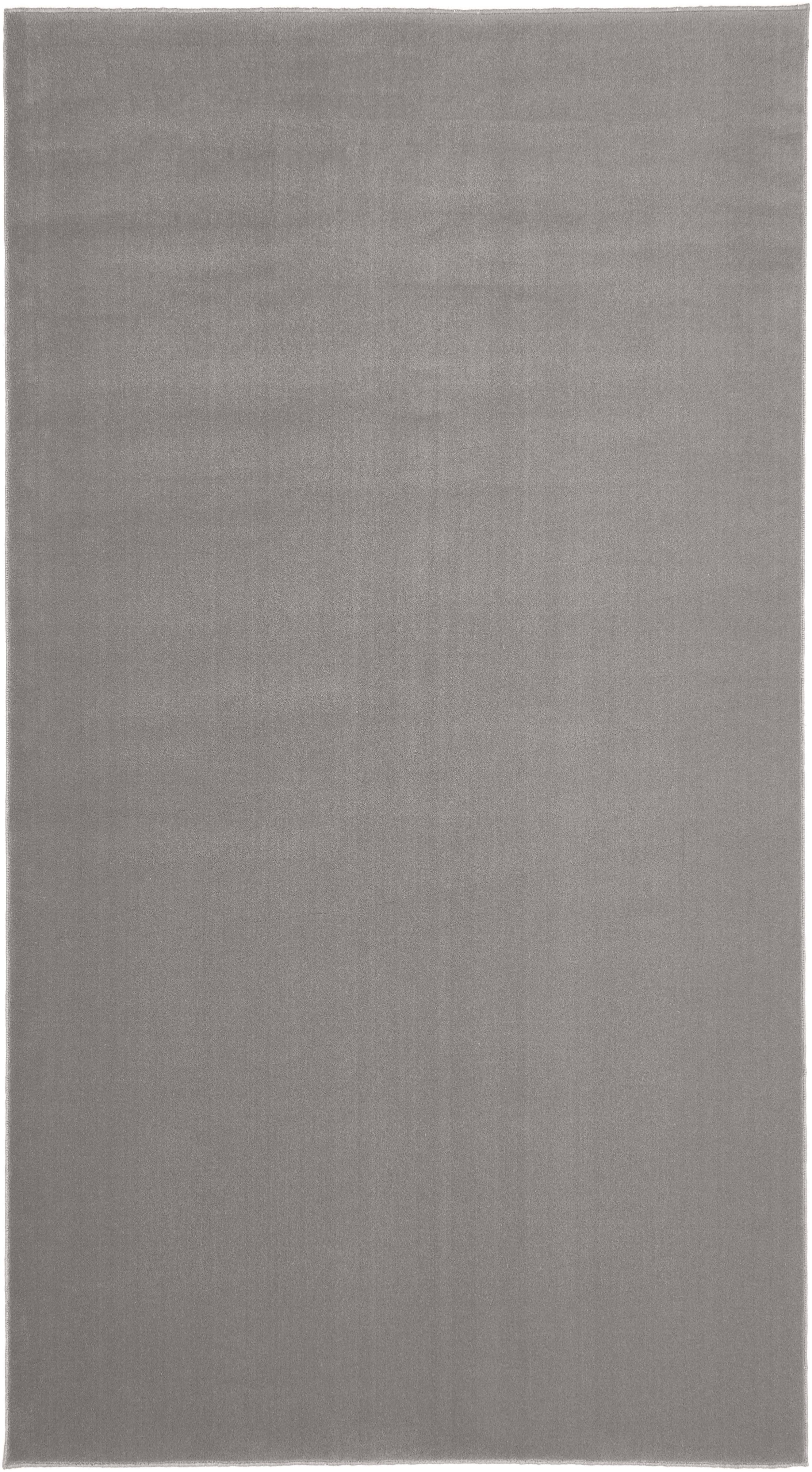 Wollen vloerkleed Ida in grijs, Bovenzijde: wol, Onderzijde: polyester, Grijs, B 60 x L 110 cm (maat XXS)