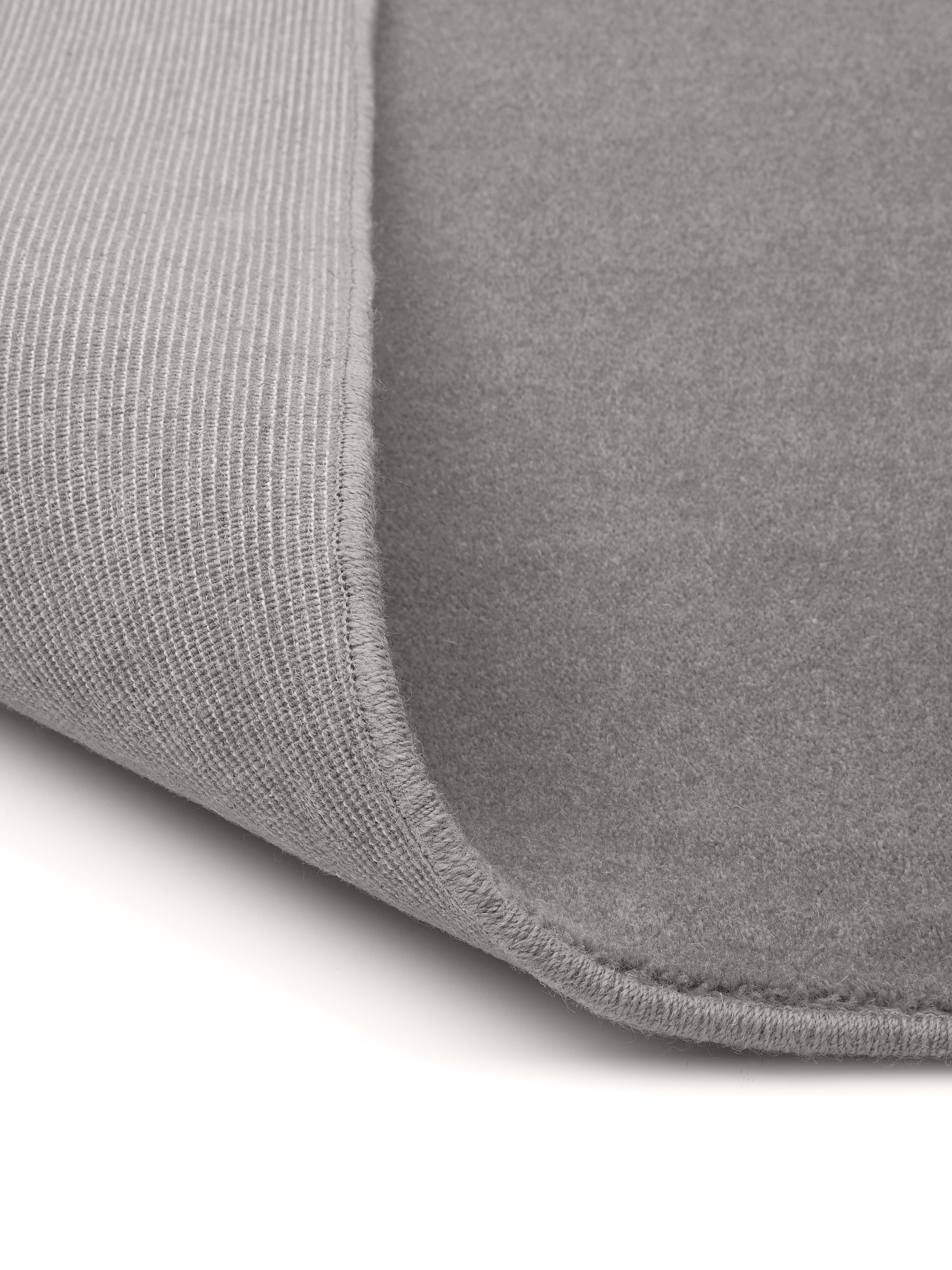 Tappeto in lana grigio Ida, Retro: poliestere, Grigio, Larg. 300 x Lung. 400 cm (taglia XL)