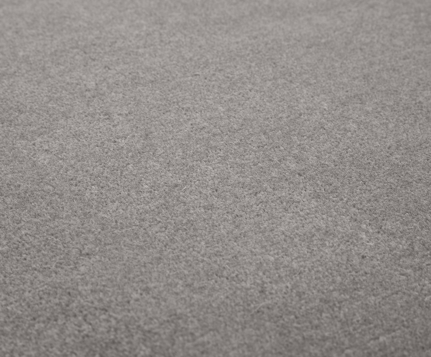 Alfombra de lana Ida, Parte superior: lana, Reverso: 60%yute, 40%poliéster, Gris, An 300 x L 400 cm (Tamaño XL)