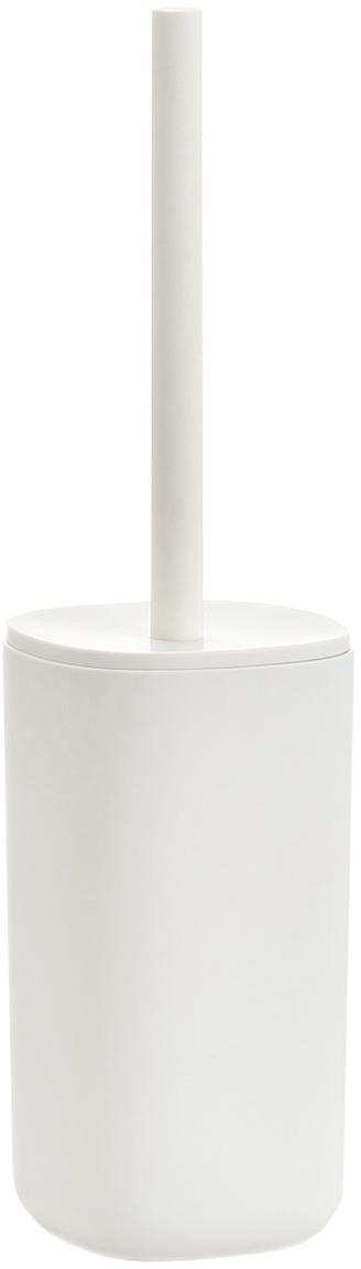 Toilettenbürste Caro, Gefäß: Kunststoff, Griff: Kunststoff, Weiß, Ø 10 x H 35 cm