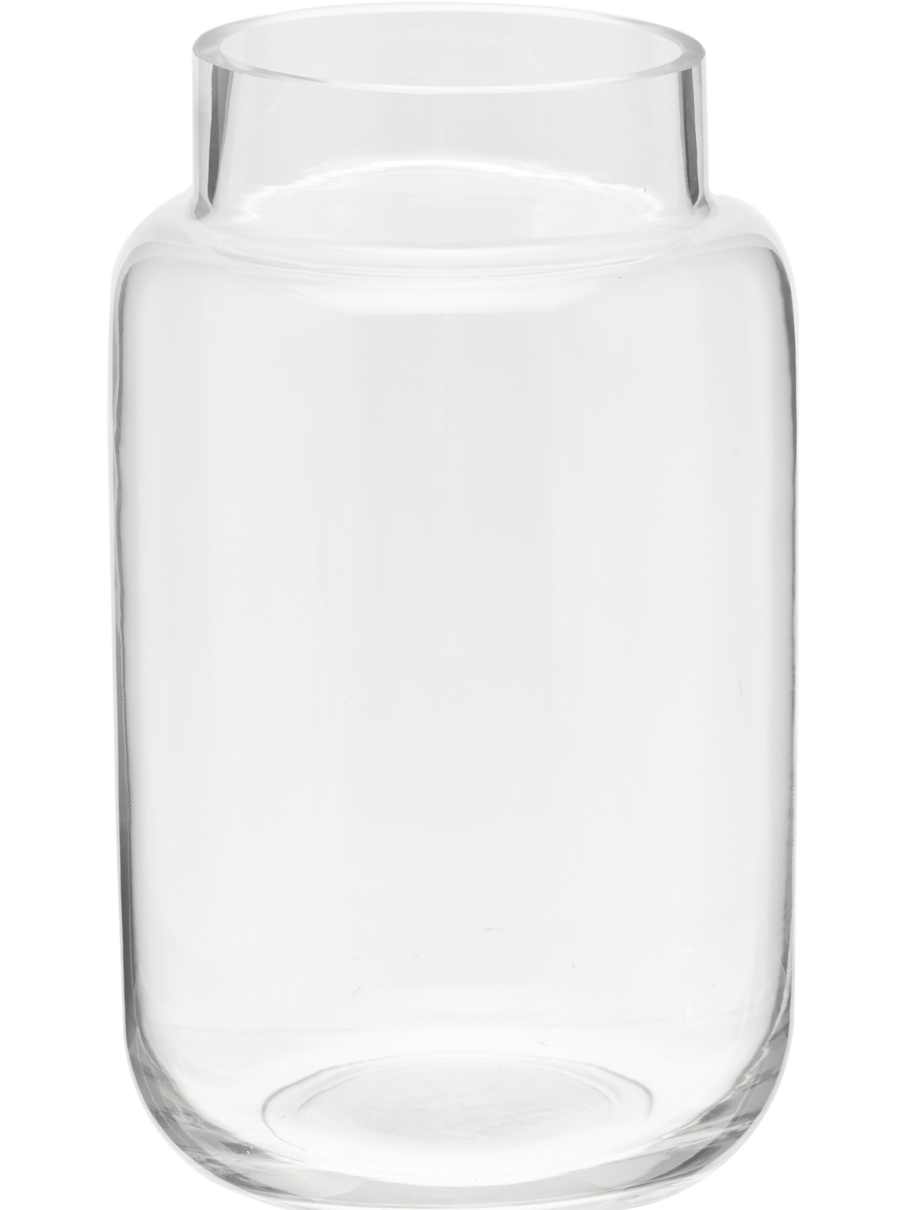Wazon ze szkła Lasse, duży, Szkło, Transparentny, Ø 14 x W 23 cm