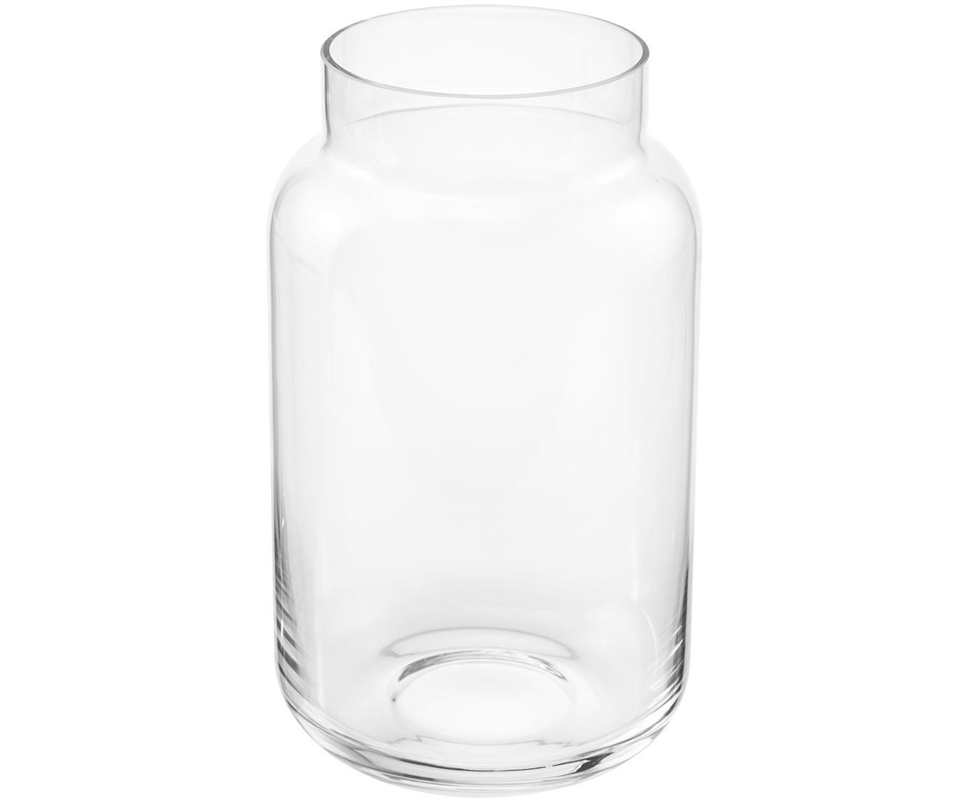 Glas-Vase Lasse, groß, Glas, Transparent, ∅ 13 x H 22 cm