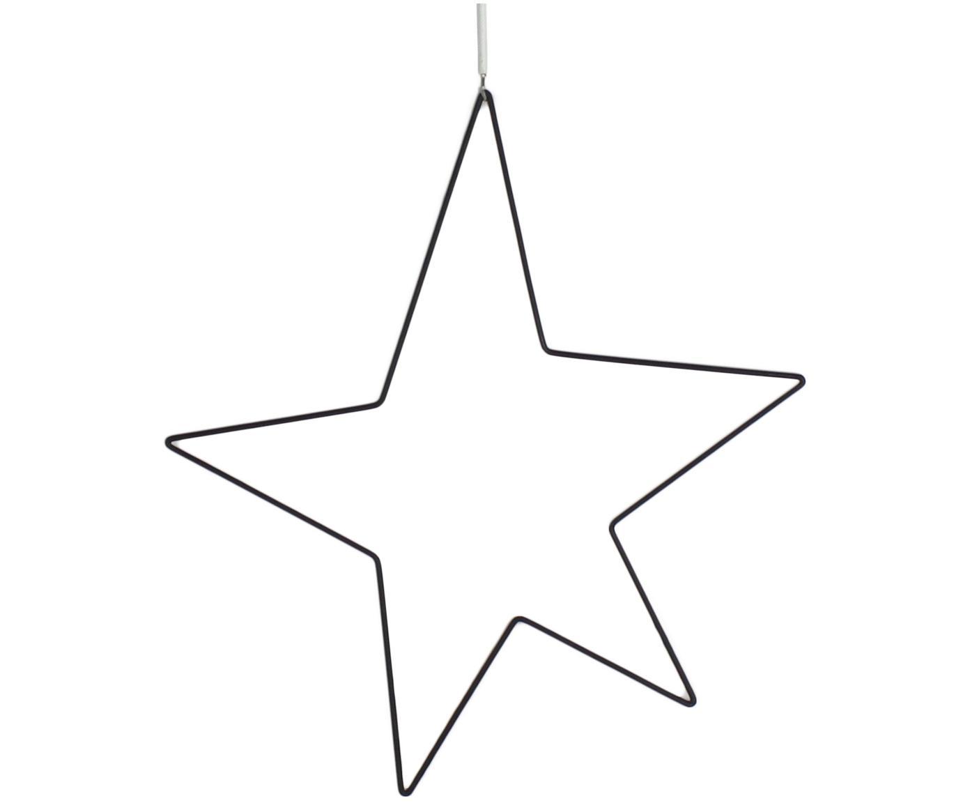 Stella decorativa in metallo Kelia, Nero, Larg. 30 x Alt. 34 cm