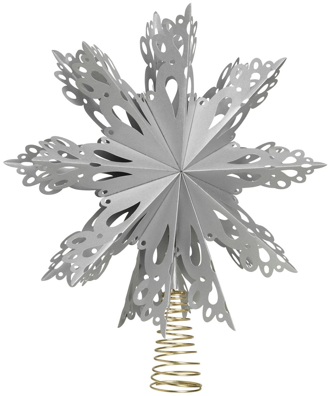 Piek Christmas Star, Papier, metaal, Grijs, goudkleurig, Ø 30 cm