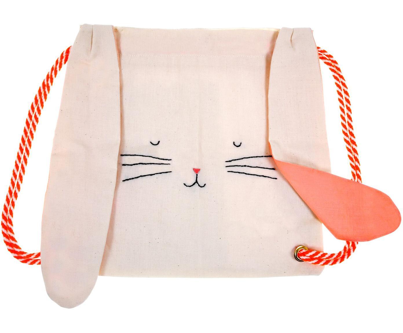 Plecak Bunny, Len, Blady różowy, czerwony, czarny, S 30 x W 33 cm