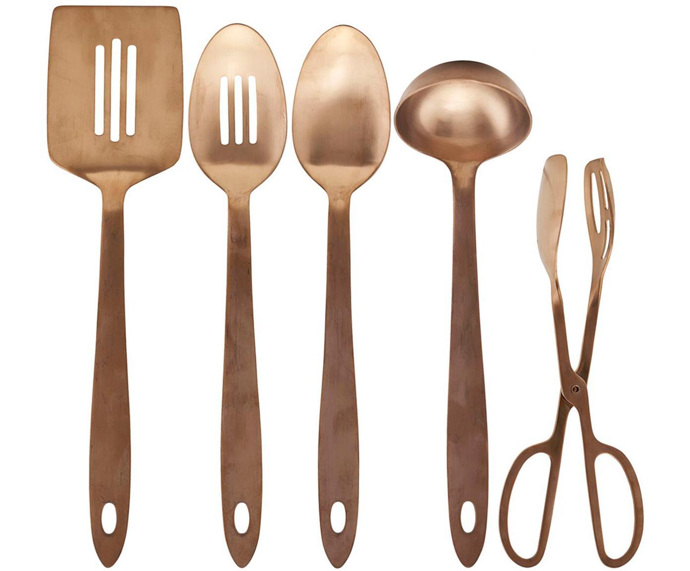 Set 5 utensili da cucina Take, Acciaio inossidabile, Ramato, Diverse dimensioni