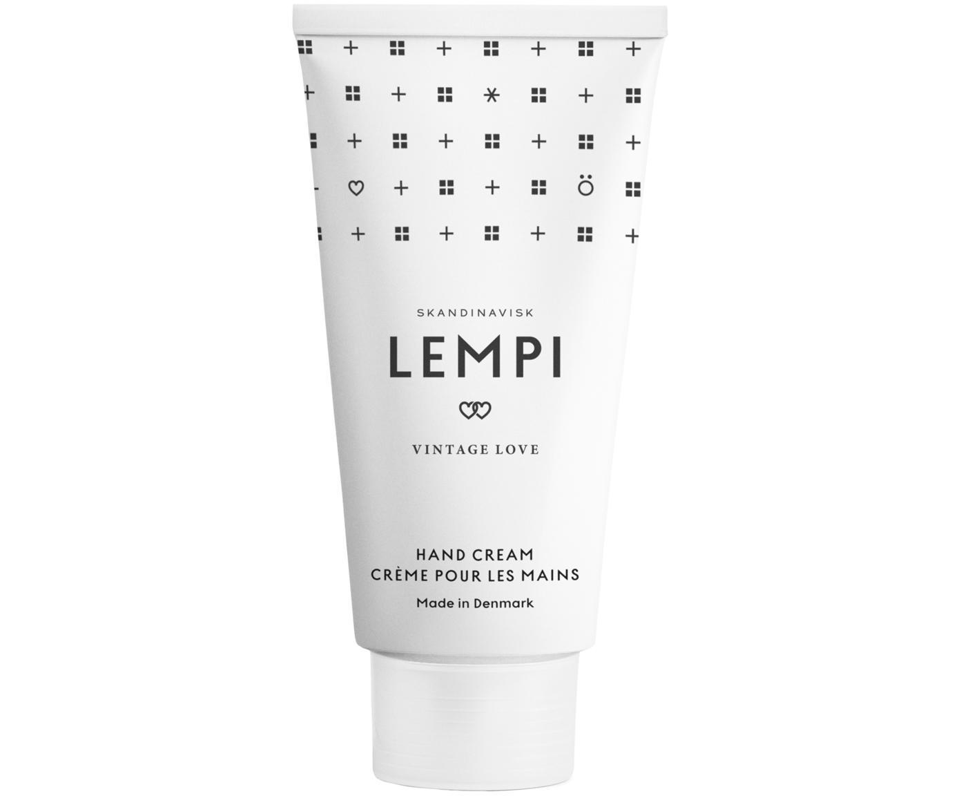 Handcrème Lempi (rozen), Houder: kunststof, Wit, 75 ml