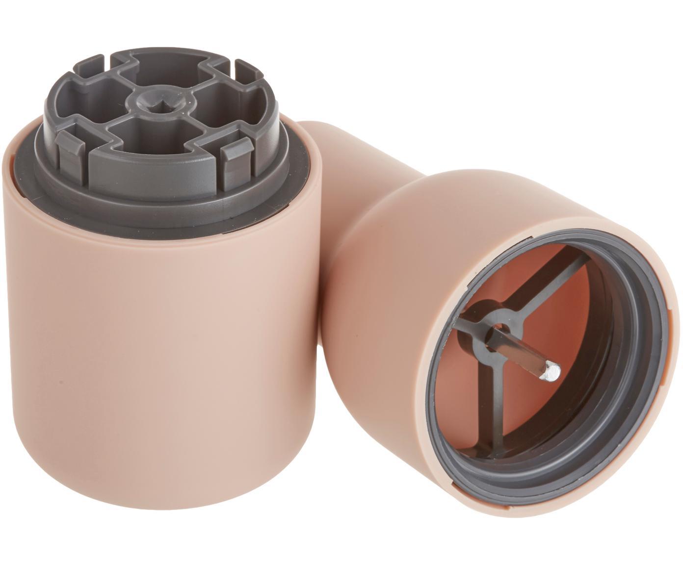 Komplet młynków Bottle Grinder, 2 elem., Korpus: tworzywo sztuczne, Odcienie różowego, Ø 8 x W 21 cm