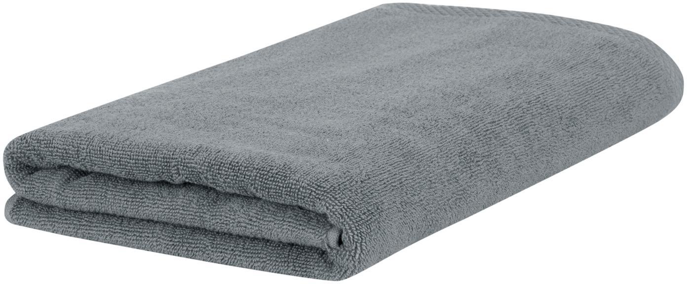 Asciugamano in tinta unita Comfort, Grigio scuro, Asciugamano per ospiti