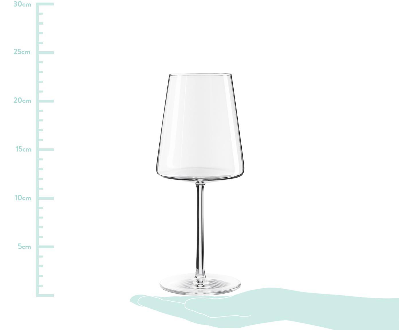 Kristall-Rotweingläser Power in Kegelform, 6er-Set, Kristallglas, Transparent, Ø 9 x H 23 cm