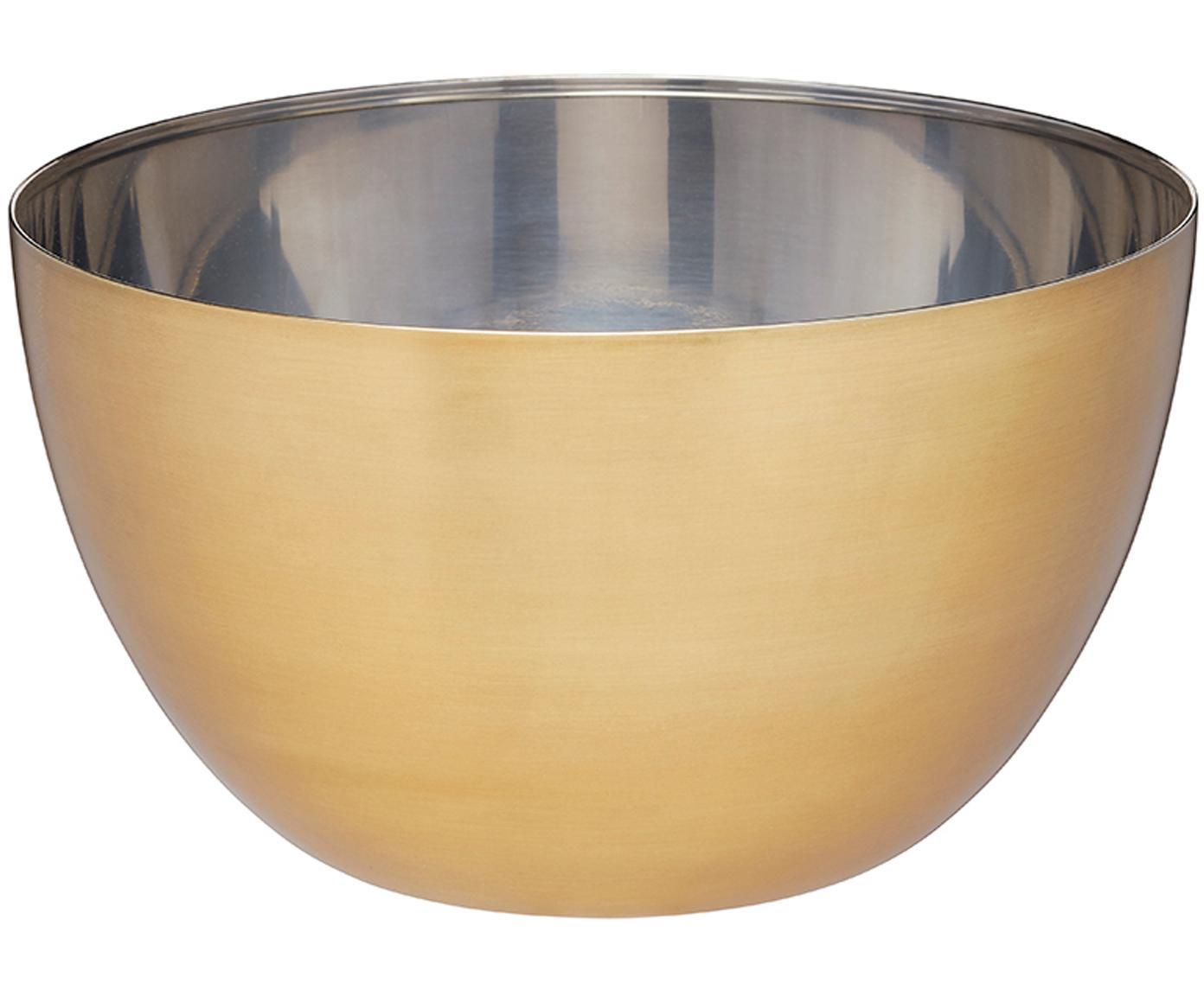 Ciotola Master Class, Esterno: acciaio inossidabile, riv, Interno: acciaio inossidabile, Colori ottone, acciaio inossidabile, Ø 21 x Alt. 12 cm