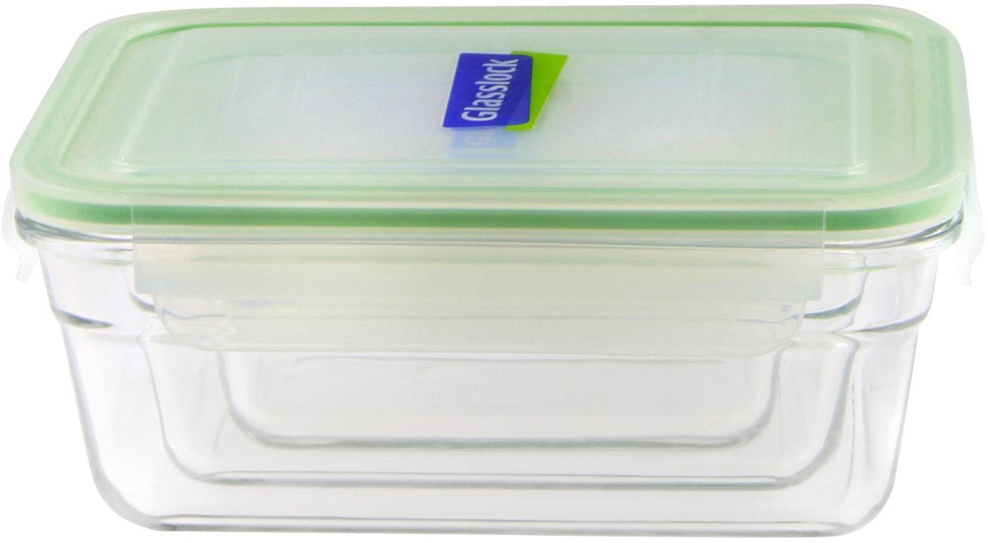 Komplet pojemników do przechowywania żywności Luna, 3elem., Transparentny, jasny zielony, Różne rozmiary