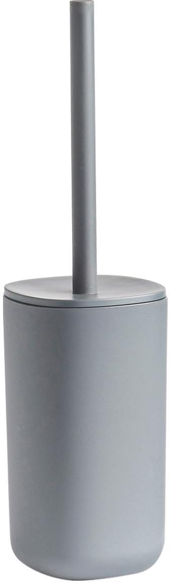 Escobilla de baño Yilma, Plástico, Gris, Ø 10 x Al 36 cm