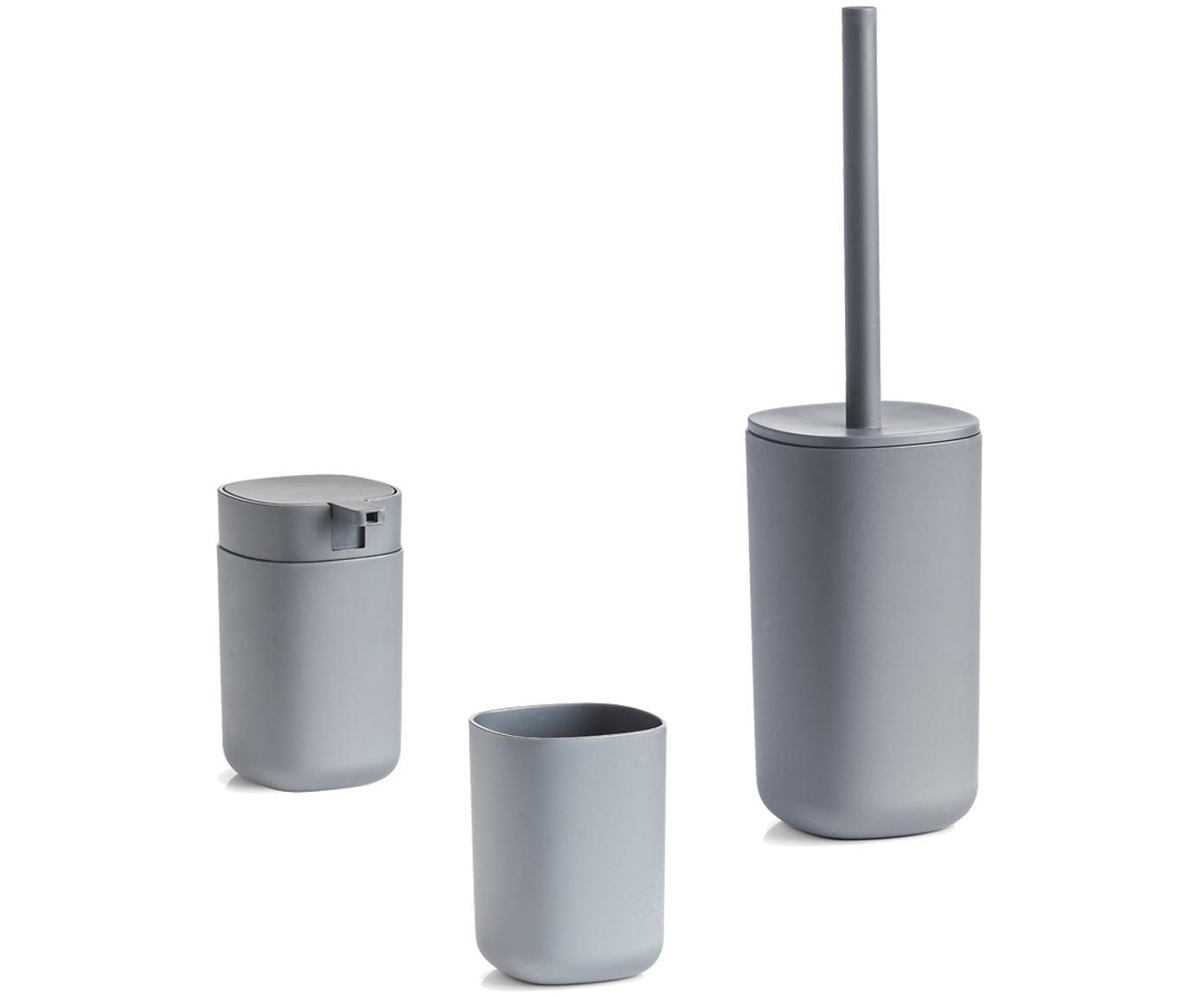Toilettenbürste Yilma, Kunststoff, Grau, Ø 10 x H 36 cm